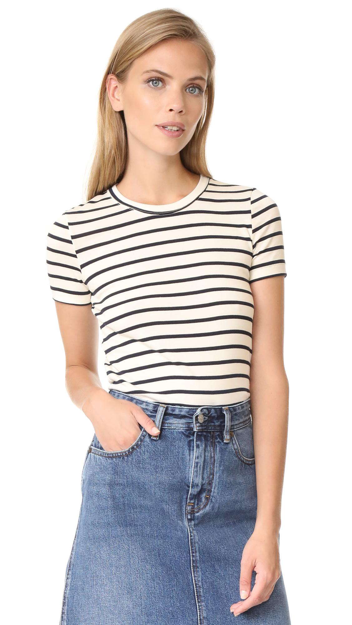 Lyst petit bateau 1x1 iconic striped tee for Petit bateau striped shirt