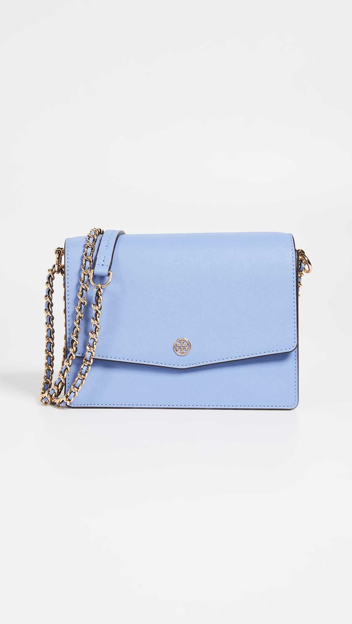 c82a9cbe1ca Tory Burch Robinson Convertible Shoulder Bag in Blue - Lyst
