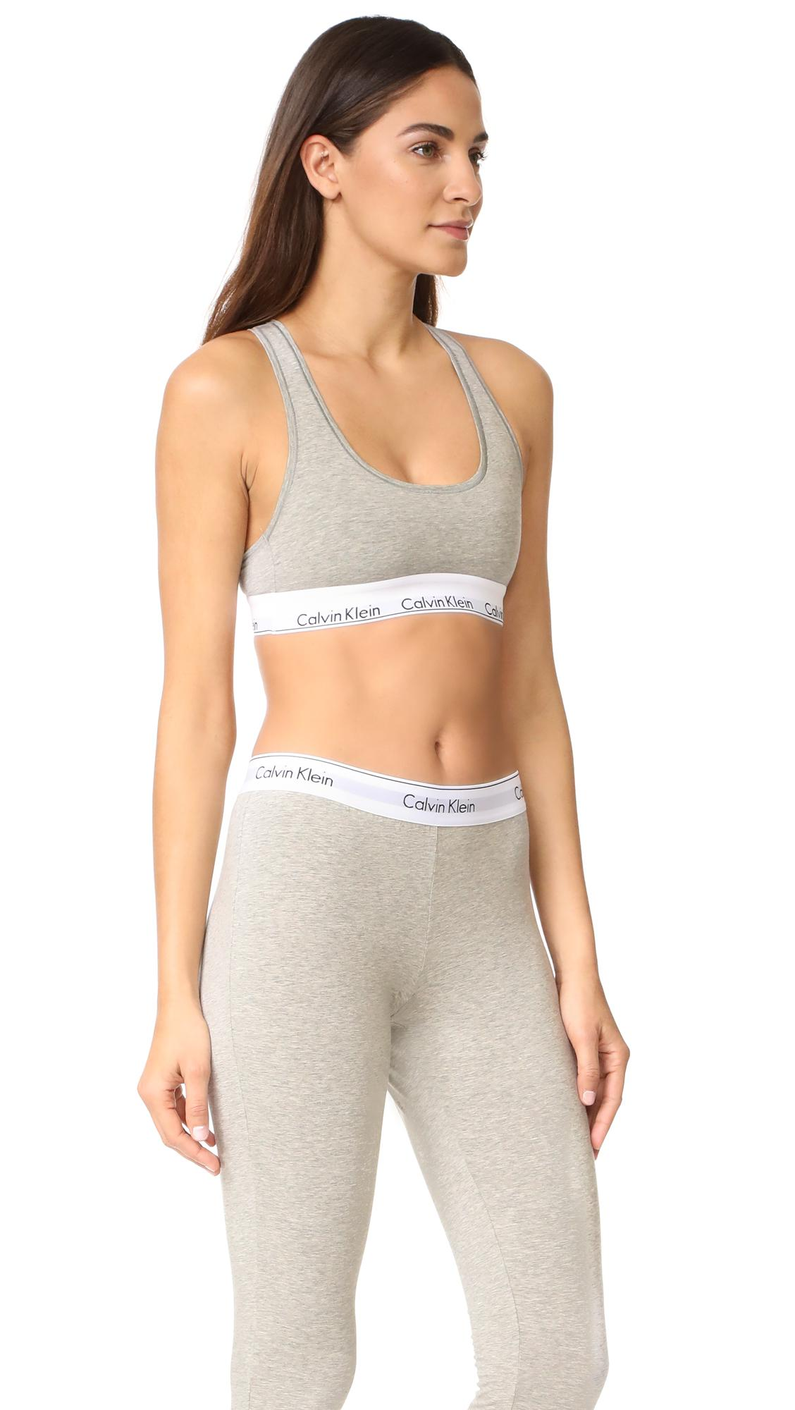 Calvin klein modern cotton bralette leggings set in gray - Wandspiegel groay modern ...