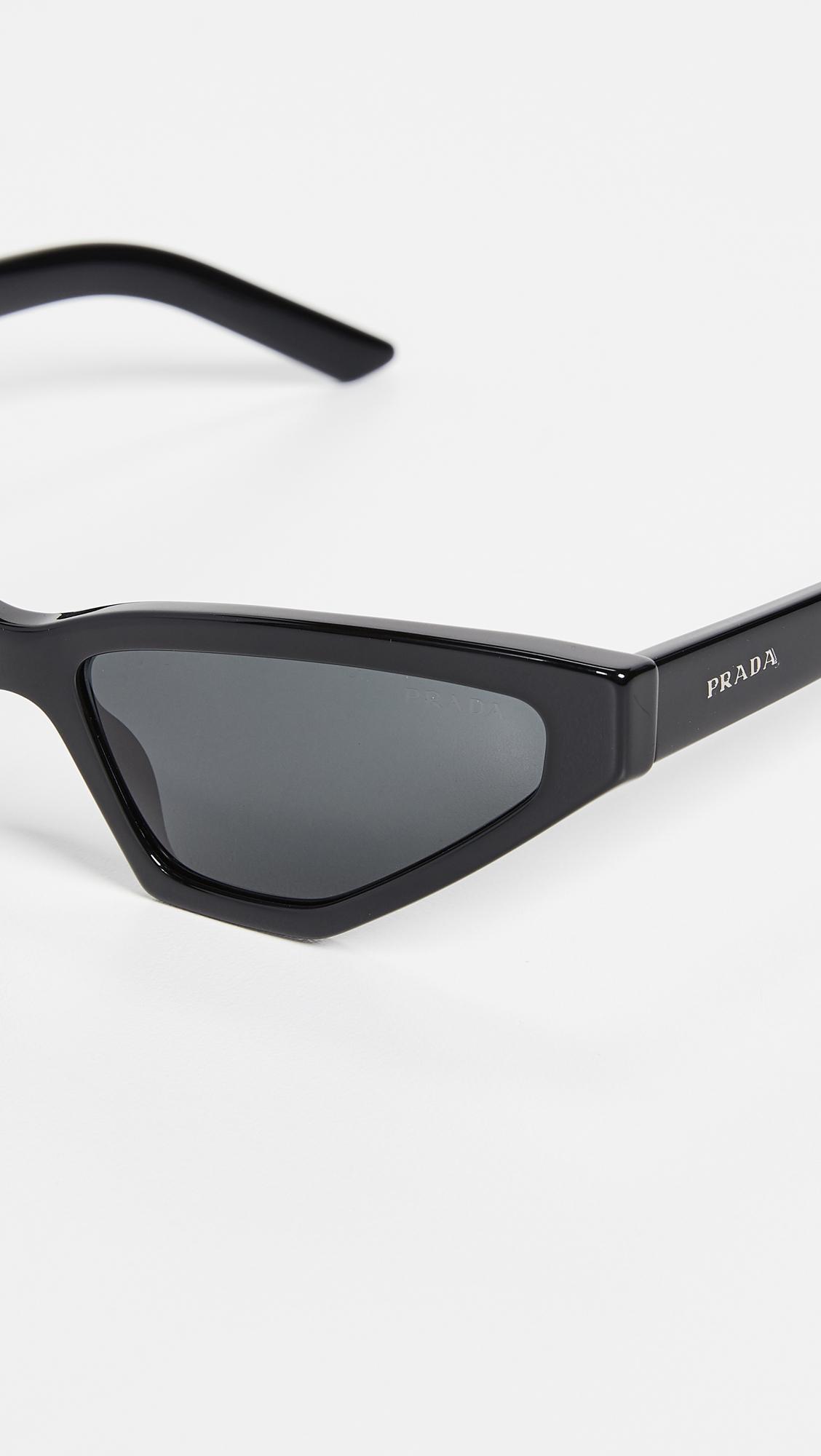 36200e9d1ba2 Prada Pr 12vs Millennial Narrow Cat Eye Sunglasses in Black - Lyst