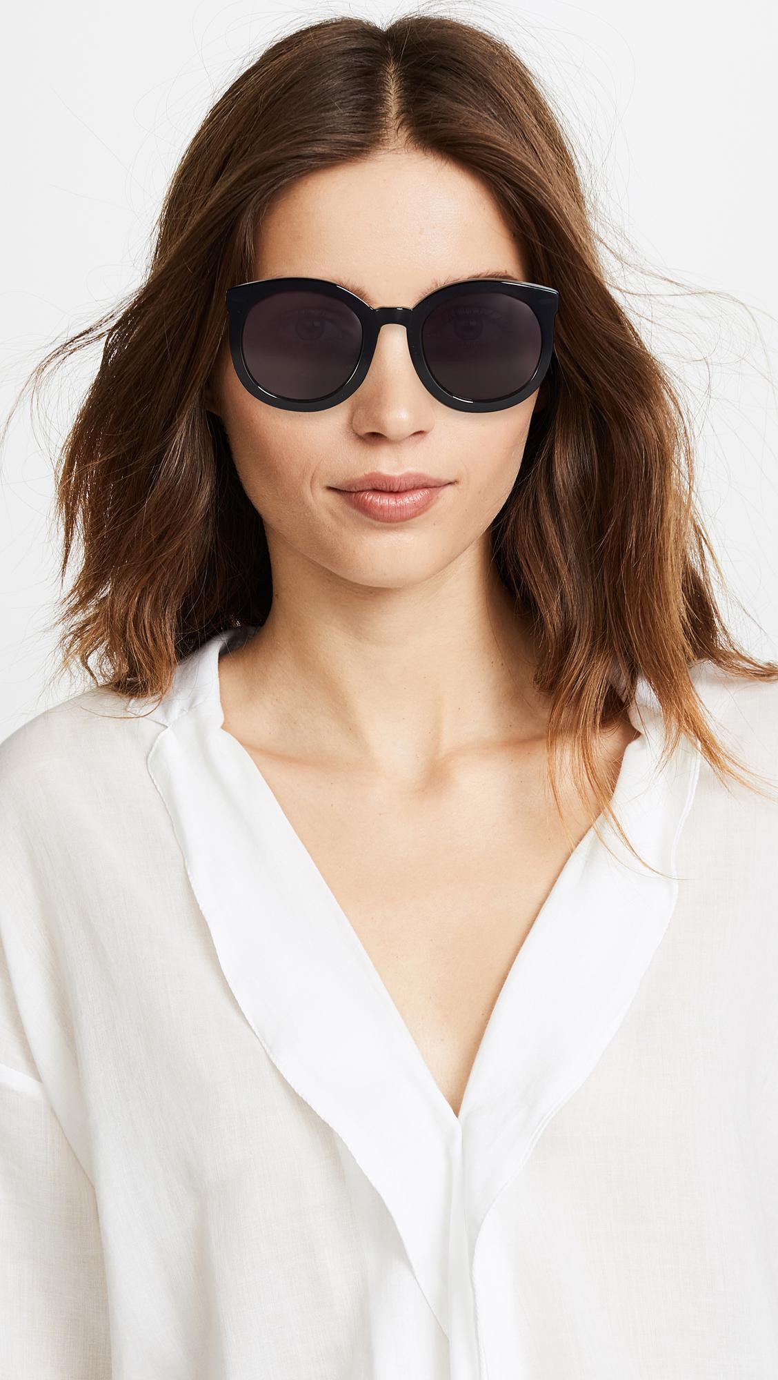 1d74d903abf Lyst - Karen Walker Super Duper Strength Sunglasses in Black - Save 11%