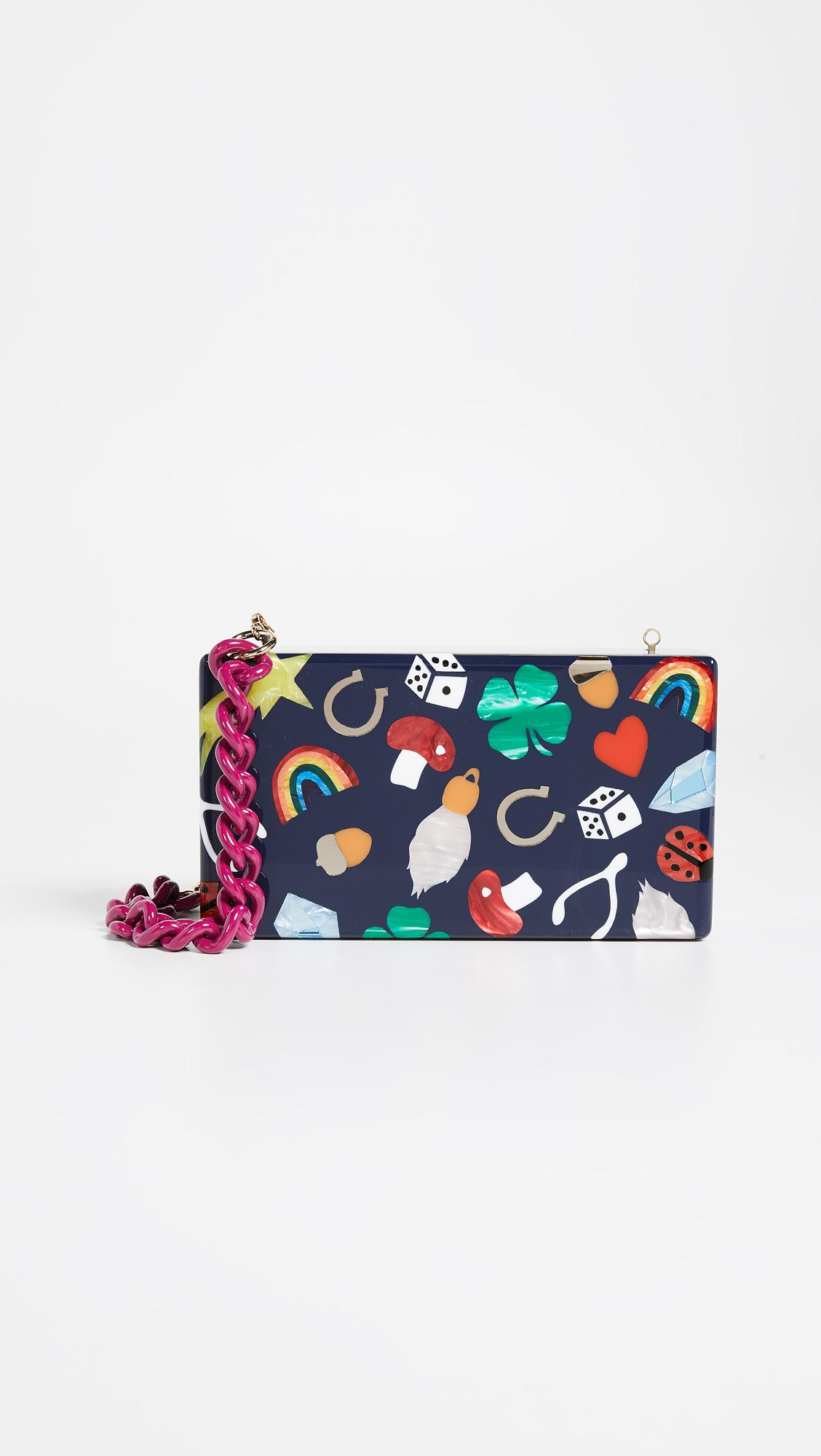 Edie Parker Lucky Charms Jean Clutch 4i3TxY