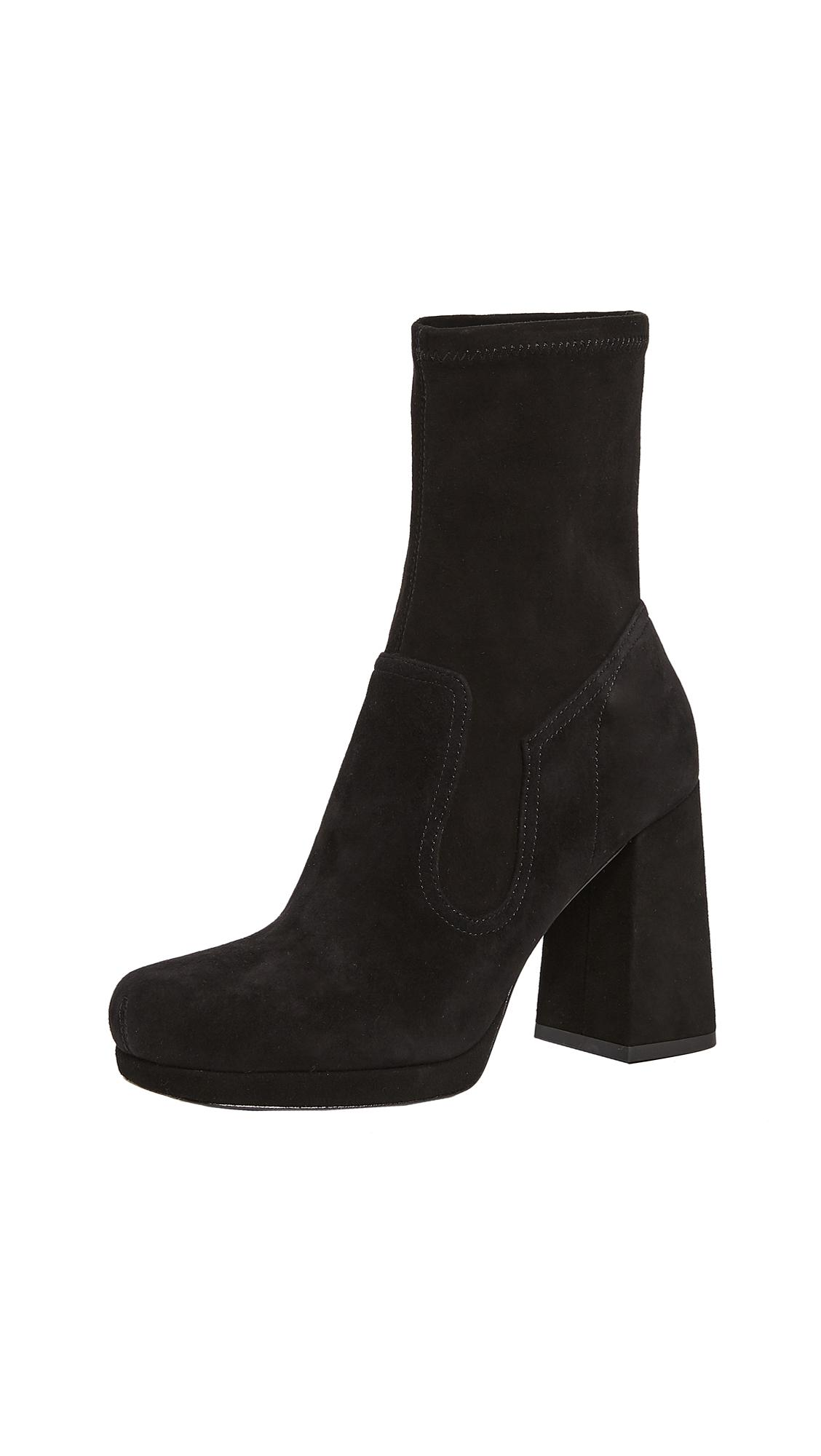 Marc Jacobs Suede Ross Stretch Ankle Booties in Black