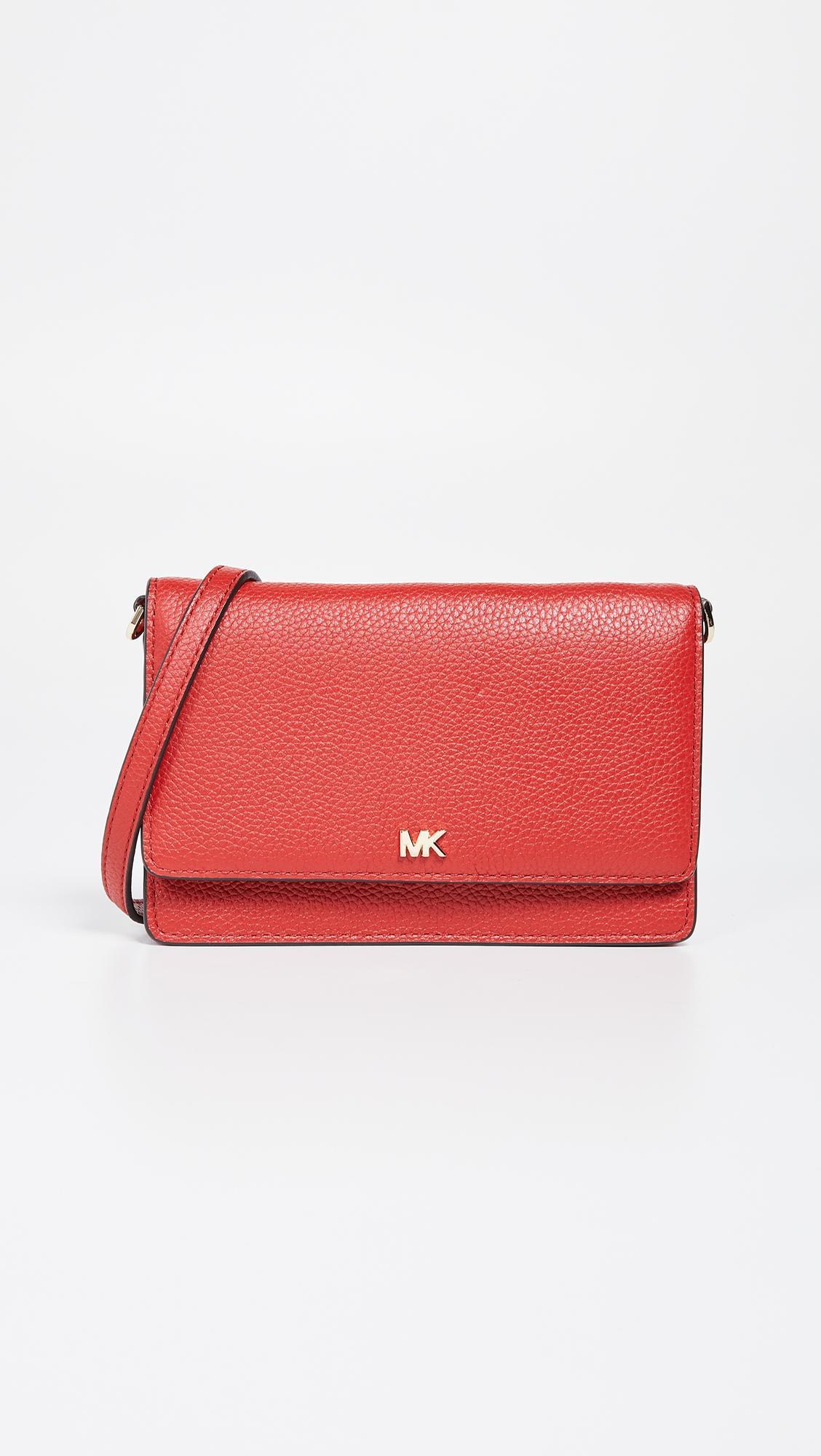 0397603ea508 MICHAEL Michael Kors Phone Crossbody Bag in Red - Lyst