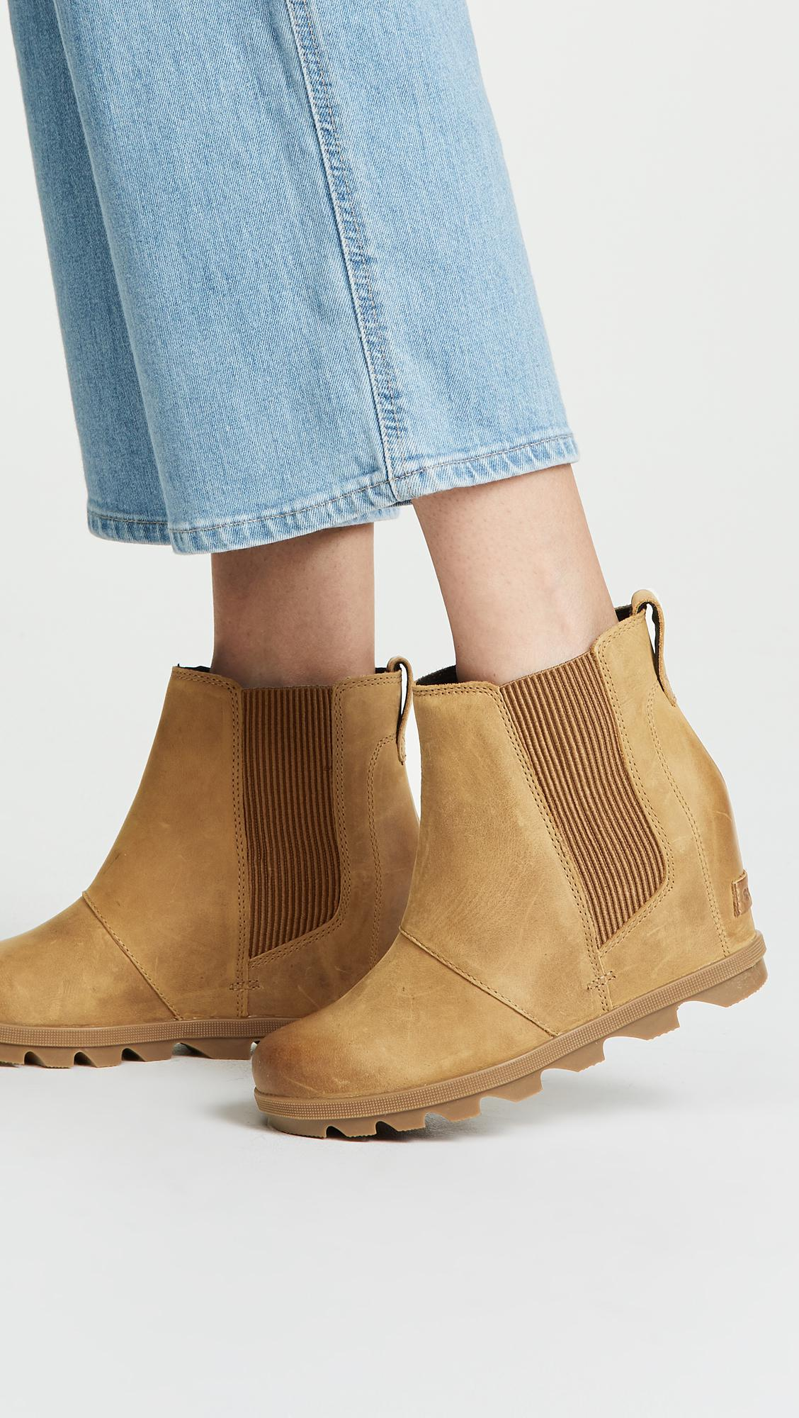e491a544e98 Lyst - Sorel Joan Of Arctic Wedge Ii Chelsea Boots in Brown