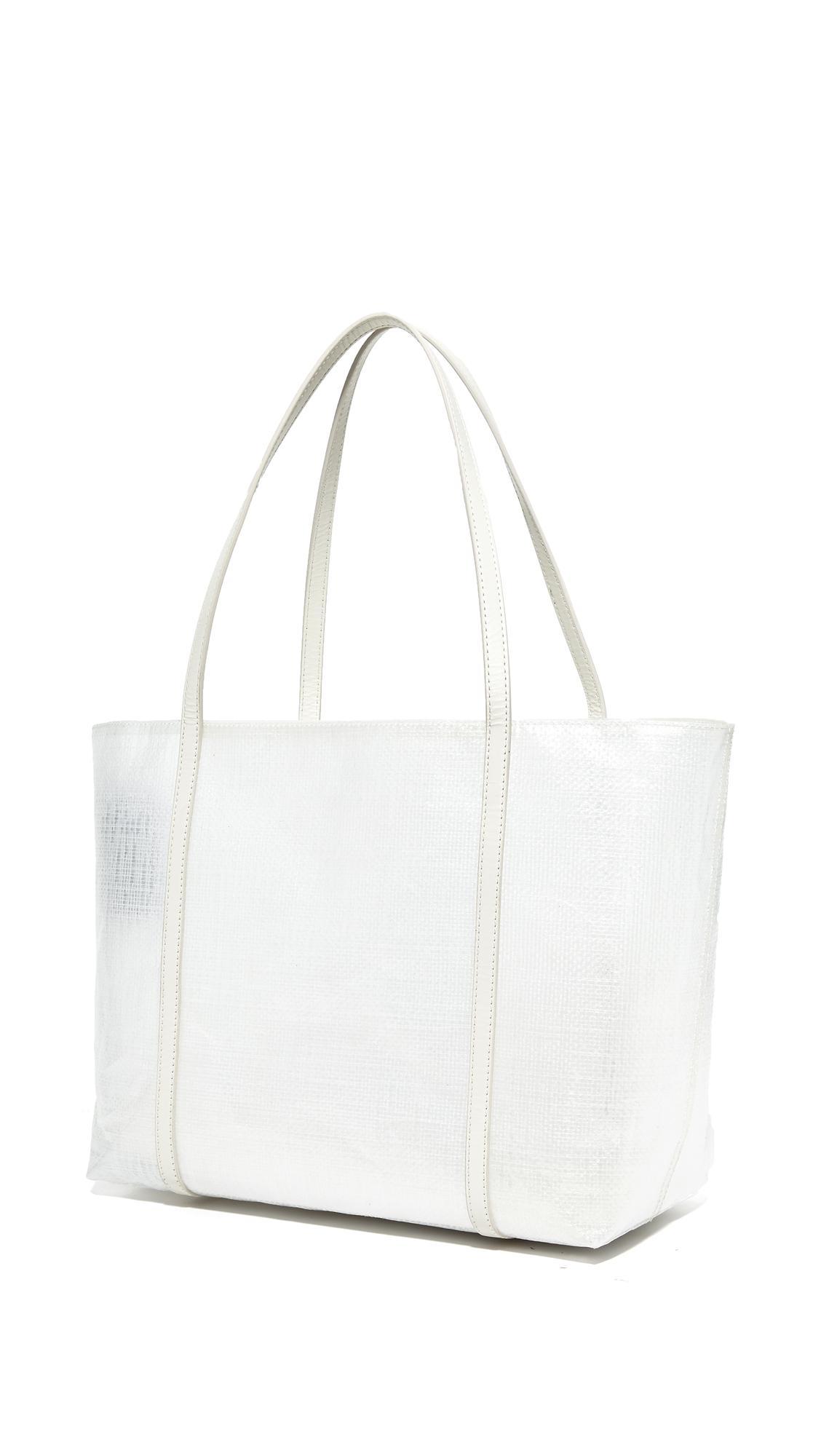 Kara Tarp Tote in White
