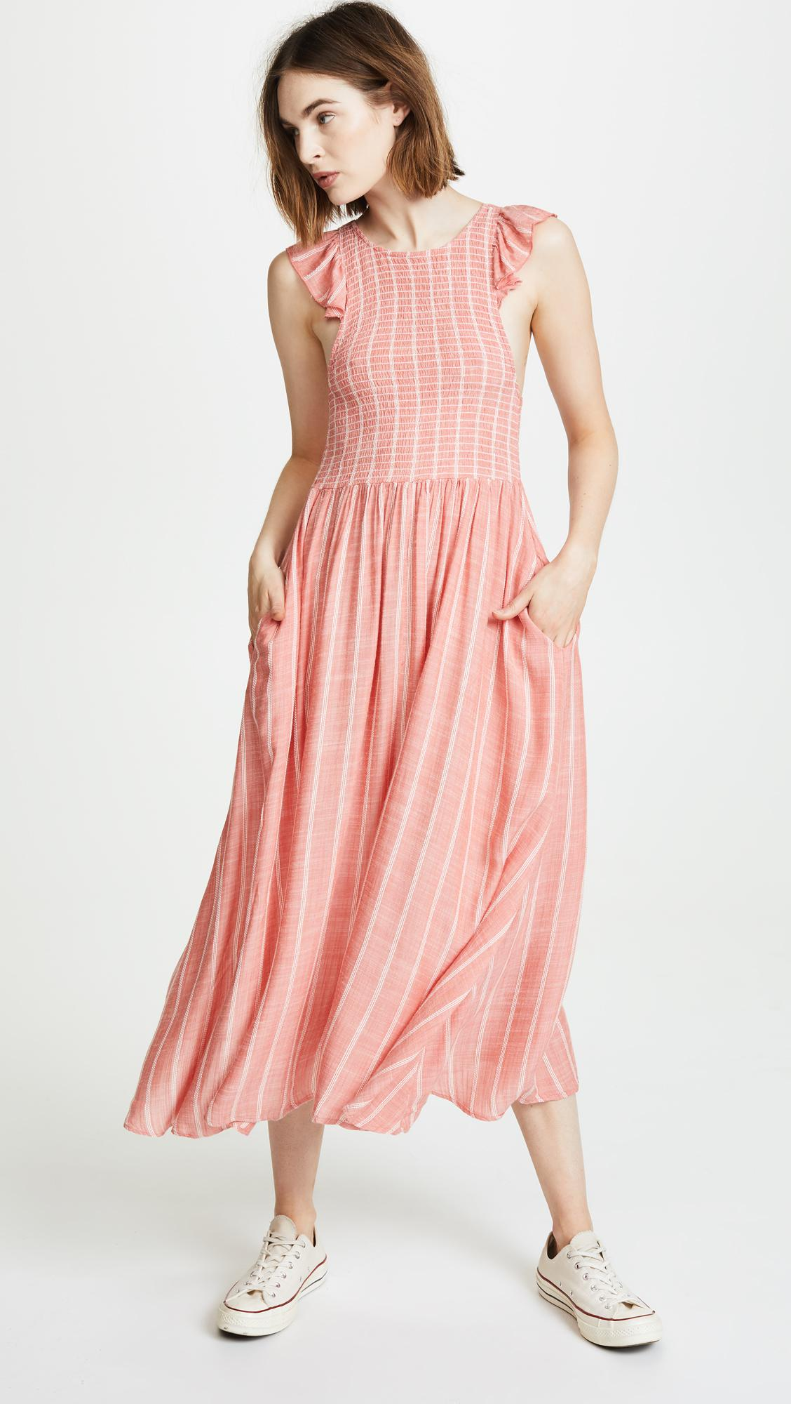 top brands new arrive ever popular Free People Synthetic Butterflies Midi Dress in Red - Lyst