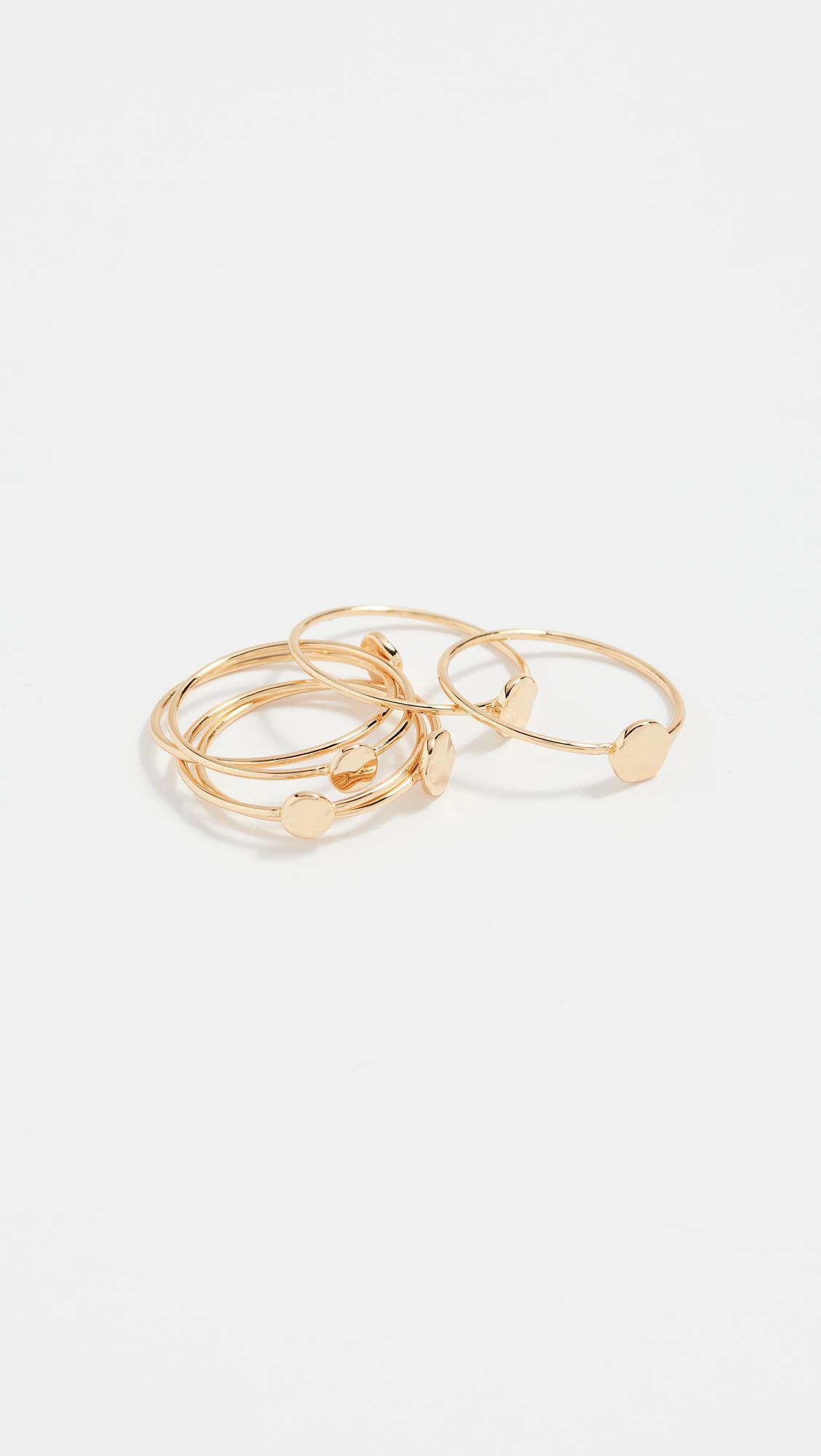 Amara Ring Set in Metallic Gold. - size 6 (also in 7) Gorjana VYfa541u1