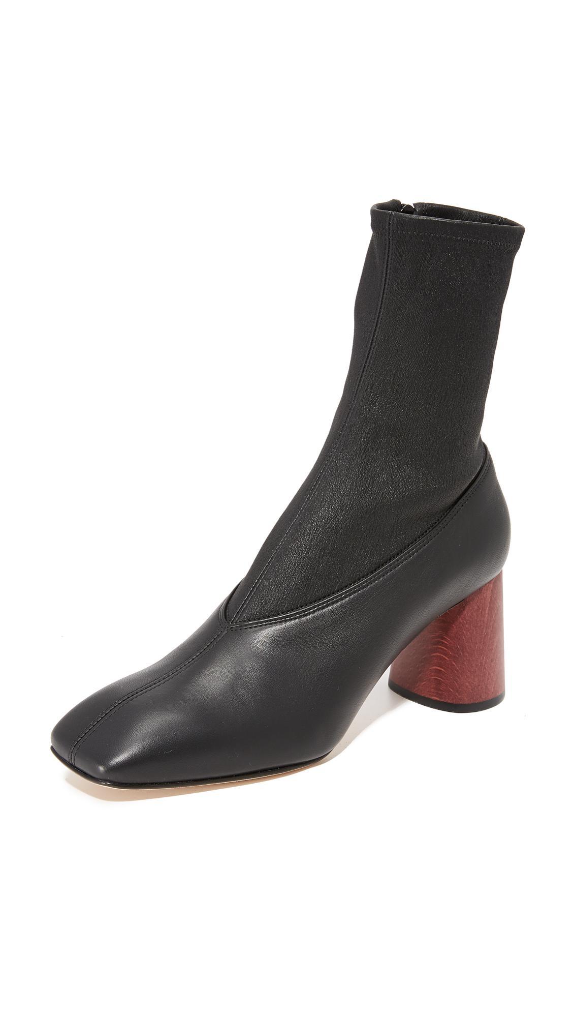 Black Helmut Lang Midcalf Stretch Boots Store Sale