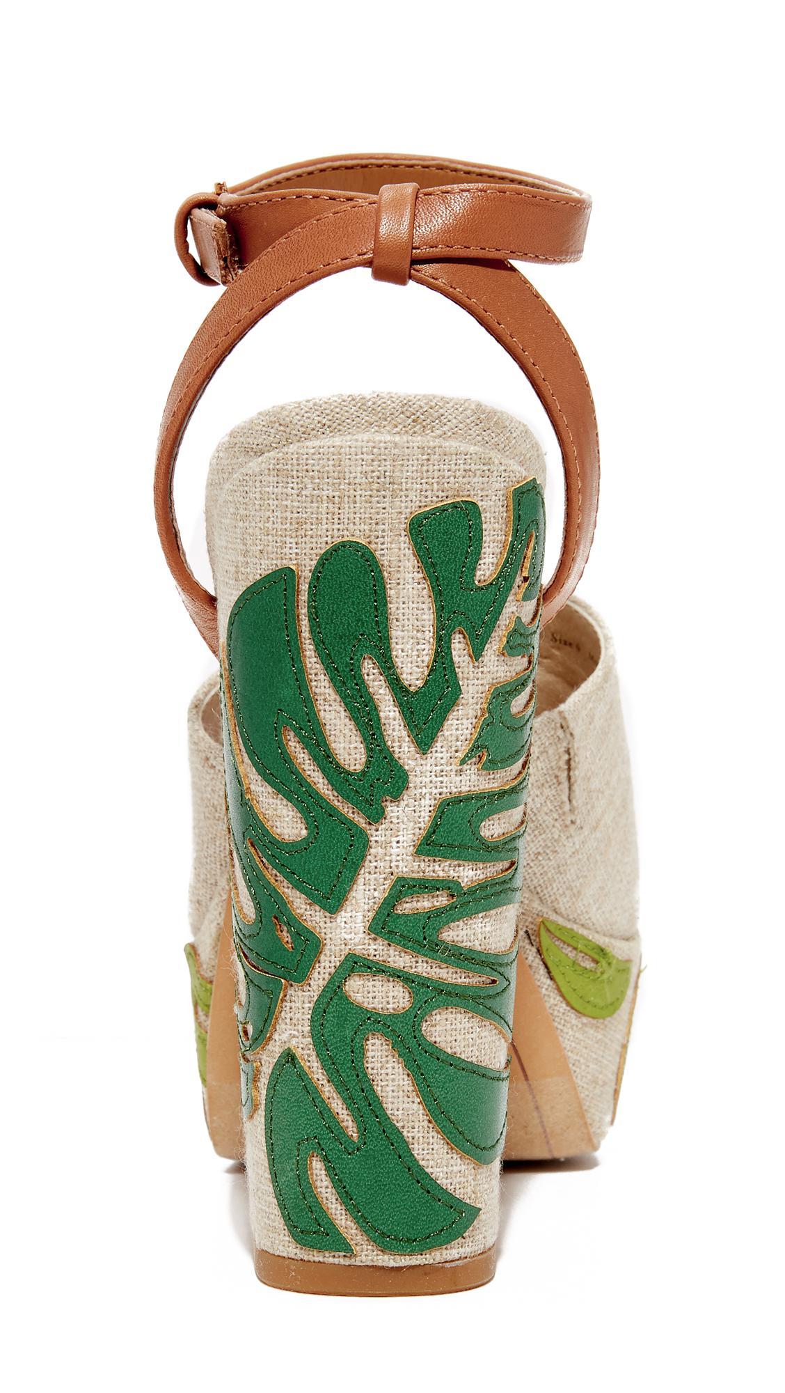 be51ad48e341 Dolce Vita Lando Platform Sandals in Green - Lyst