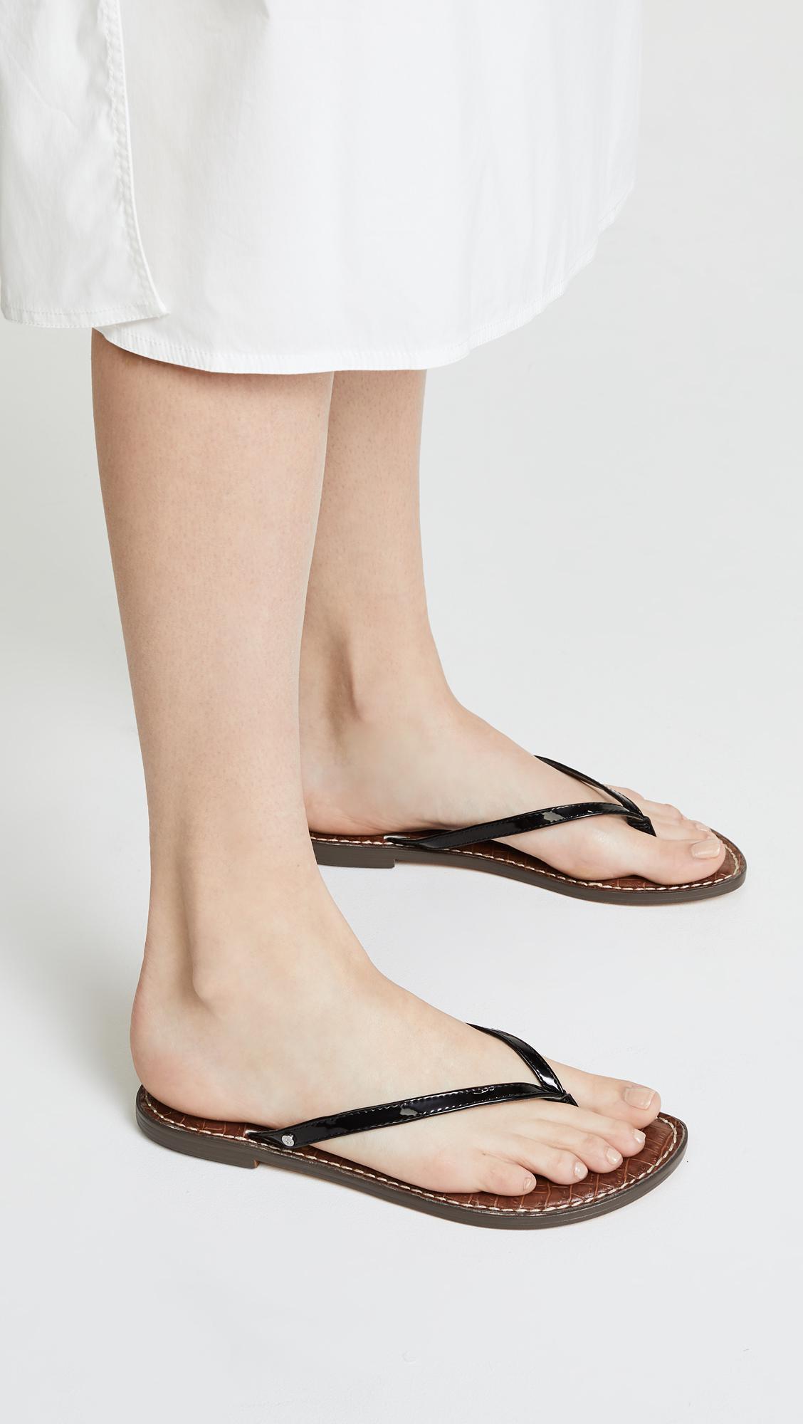 9e7edecbef1b9 Lyst - Sam Edelman Gracie Thong Sandals in Black