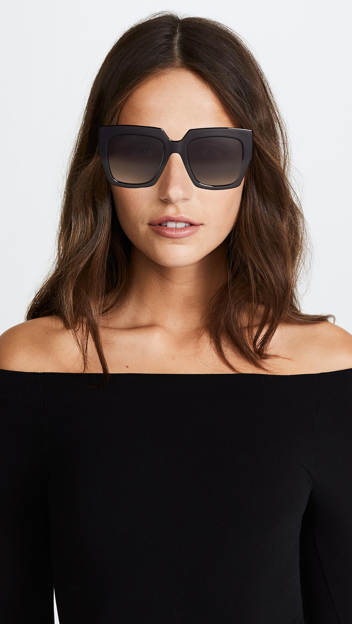 b9466c6957 Fendi Square Colorblock Sunglasses - Lyst