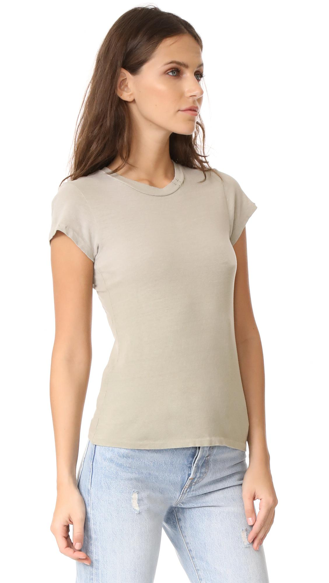 886fd876 RE/DONE X Hanes 1960s Slim Tee in Natural - Lyst