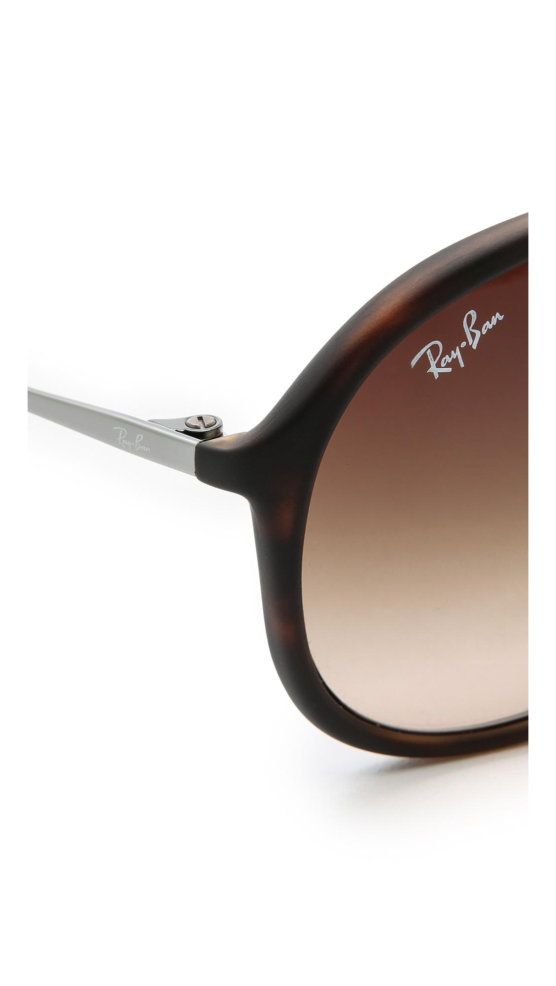 Ray-Ban Youngster Rubber Aviator Sunglasses in Brown