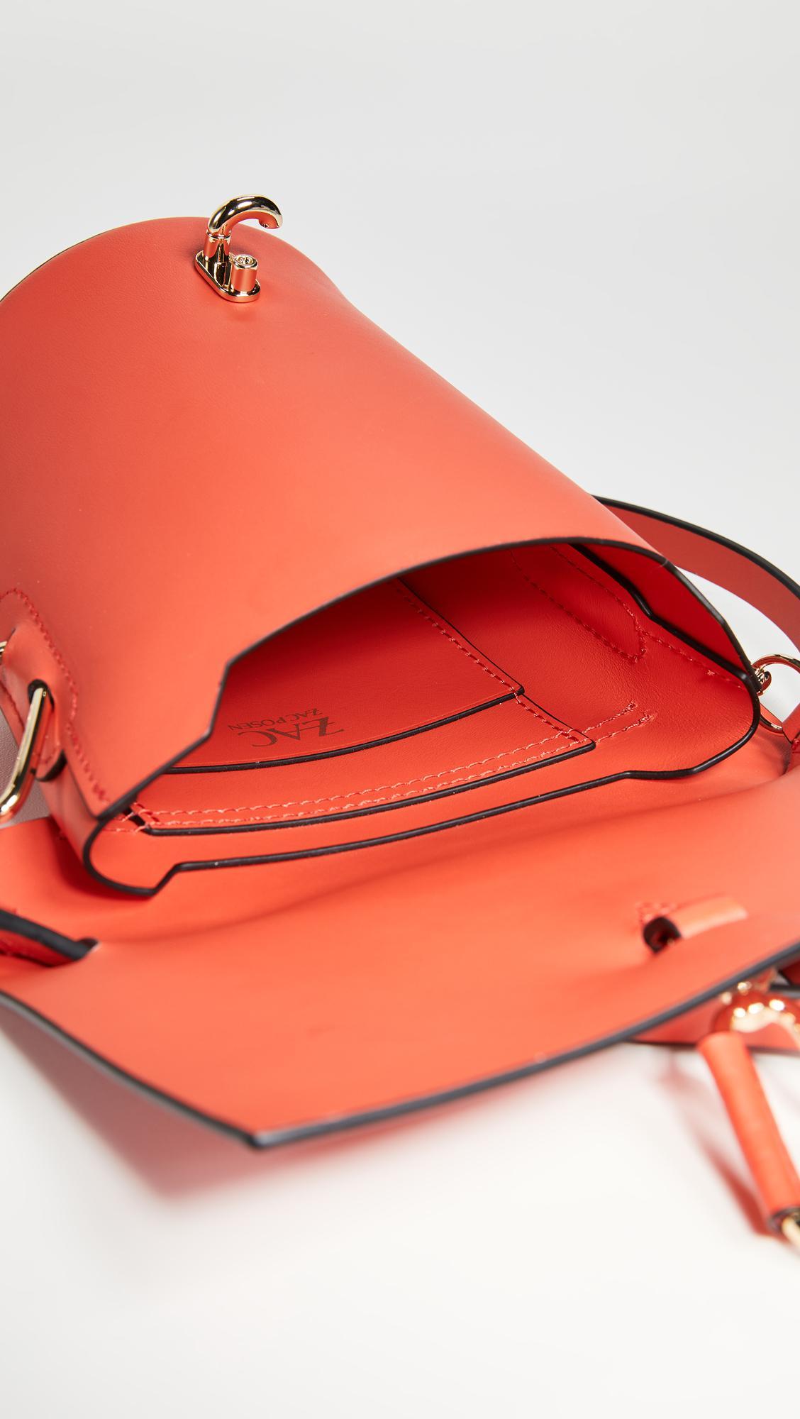 Zac Zac Posen Leather Belay Mini Cross Body Bag in Orange