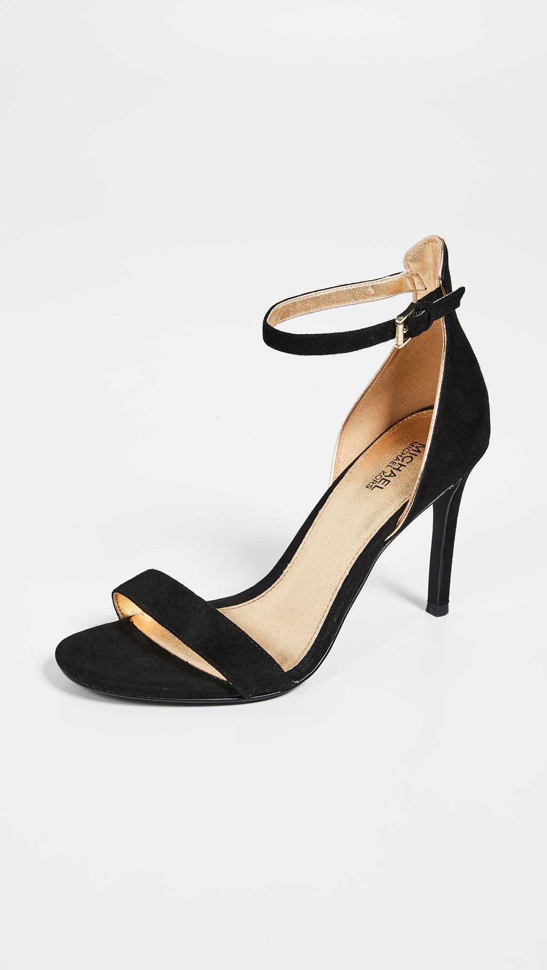 e0a5b396fcb5 MICHAEL Michael Kors Harper Naked Sandals in Black - Lyst