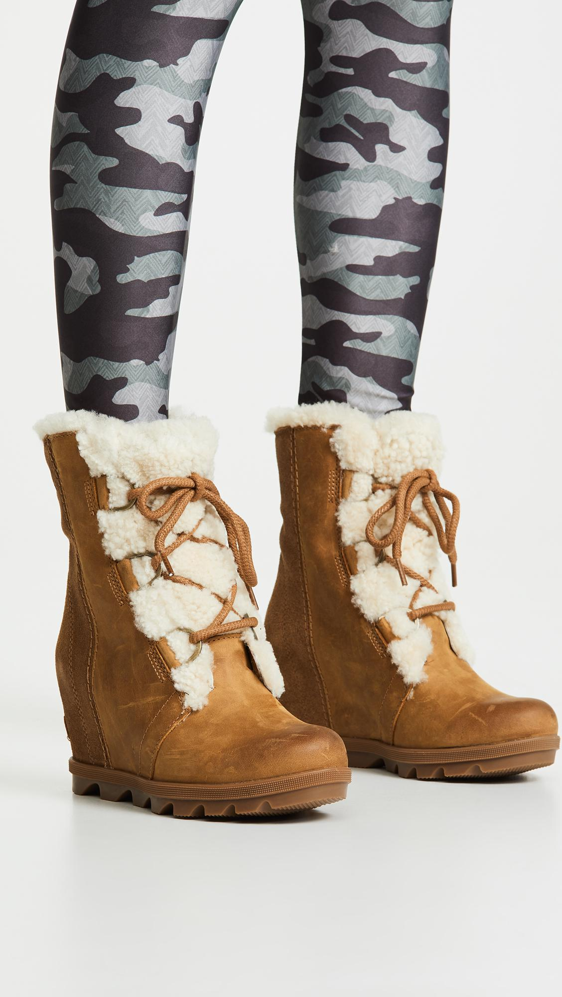 a124dbbf5039 Sorel Joan Of Arctic Wedge Ii Lux Boots in Brown - Lyst