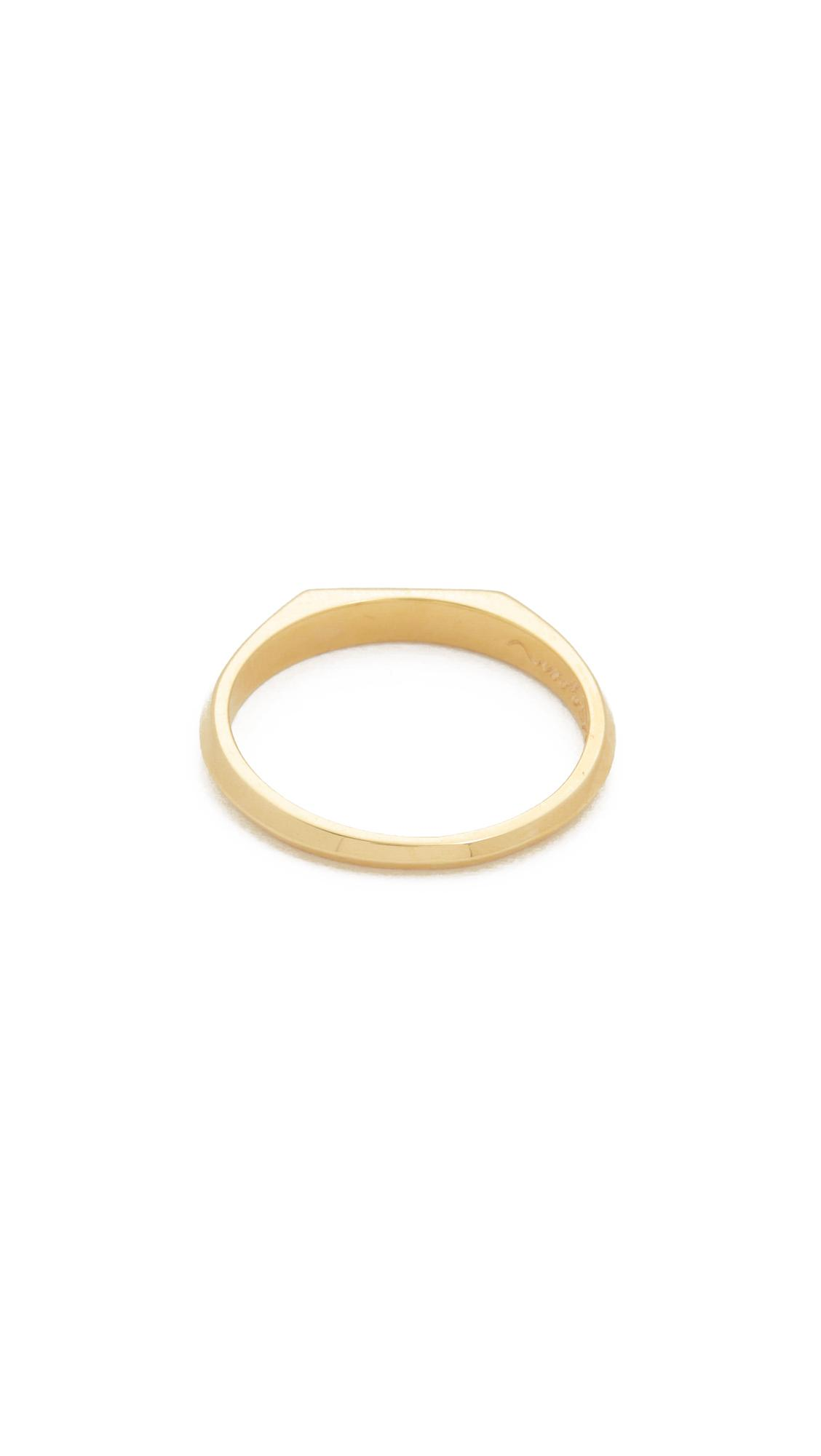 Nora Kogan Mrs Signet Ring in White (Metallic)