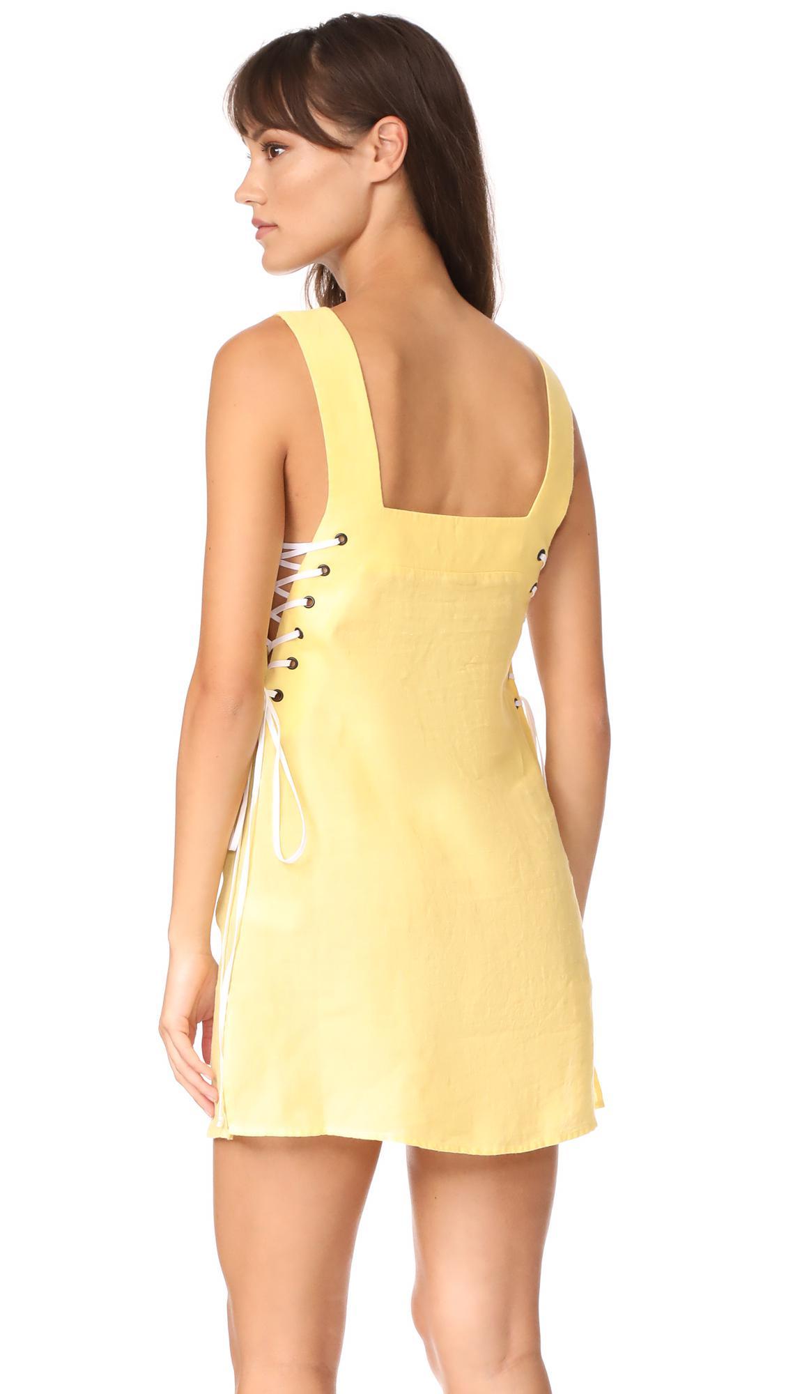 Marysia Swim Linen Waikiki Dress In Banana Yellow Lyst