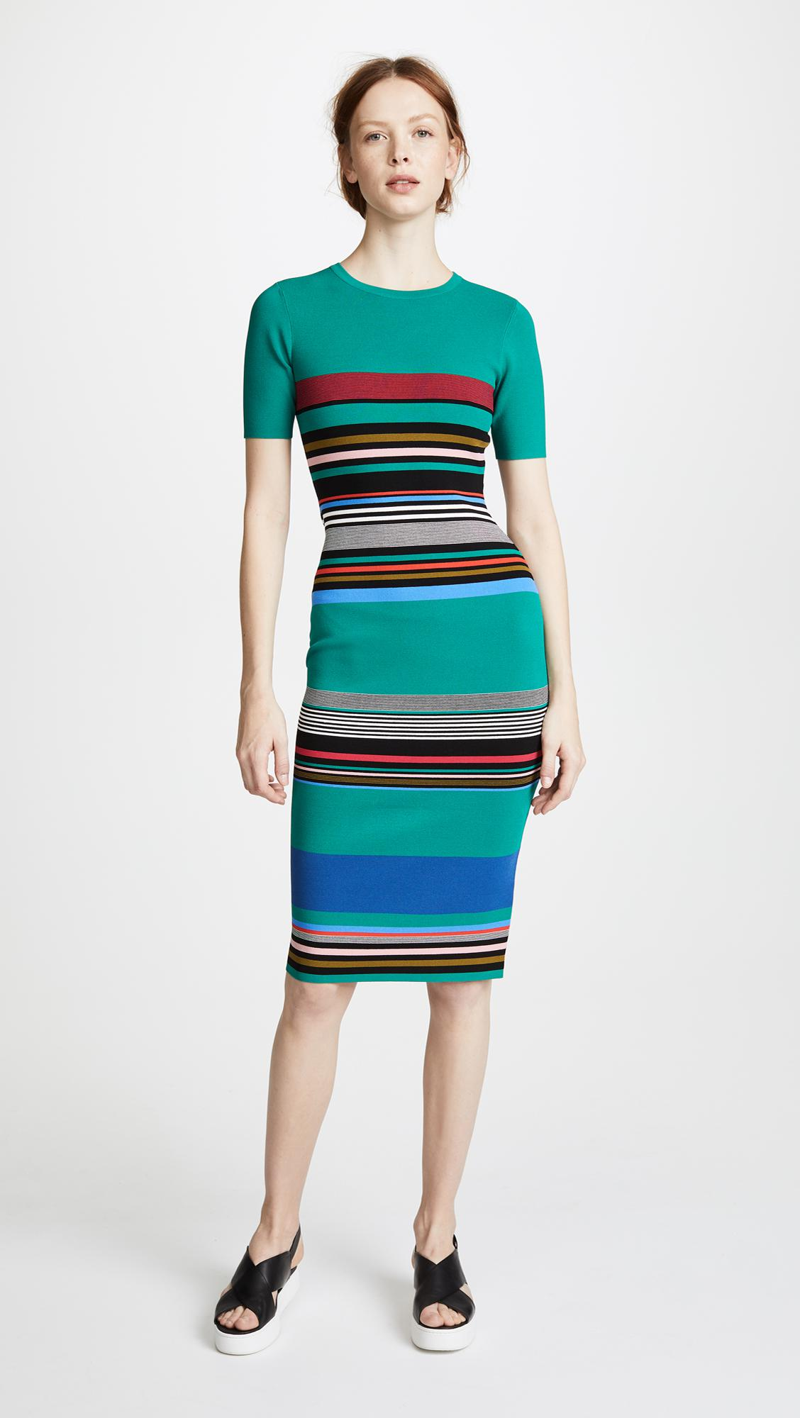 ba2b338de5 Lyst - Diane von Furstenberg Soft Shoulder Sweater Dress in Green