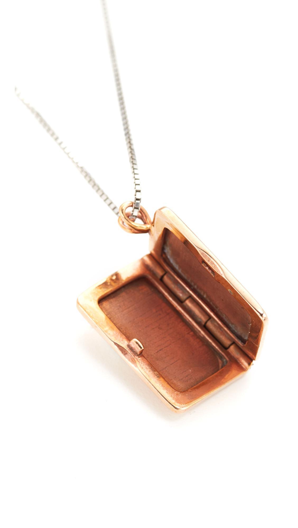 Madewell Locket Necklace in Bronze (Metallic)