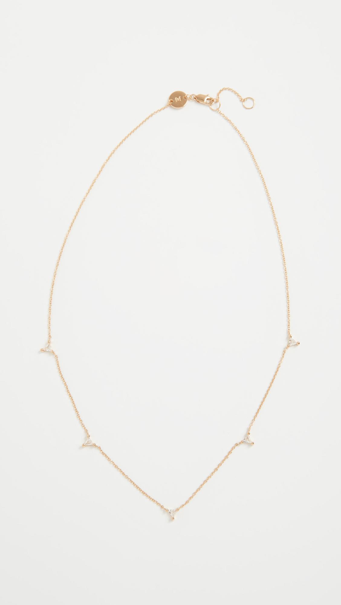 Jennifer Zeuner Luz Mini Necklace in Gold (Metallic)