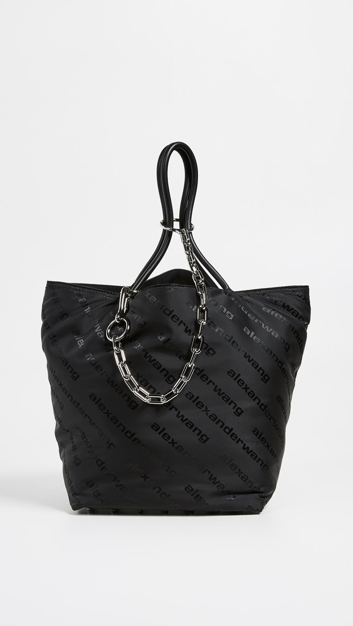bb13ce76ae69 Alexander Wang Roxy Soft Large Tote in Black - Lyst