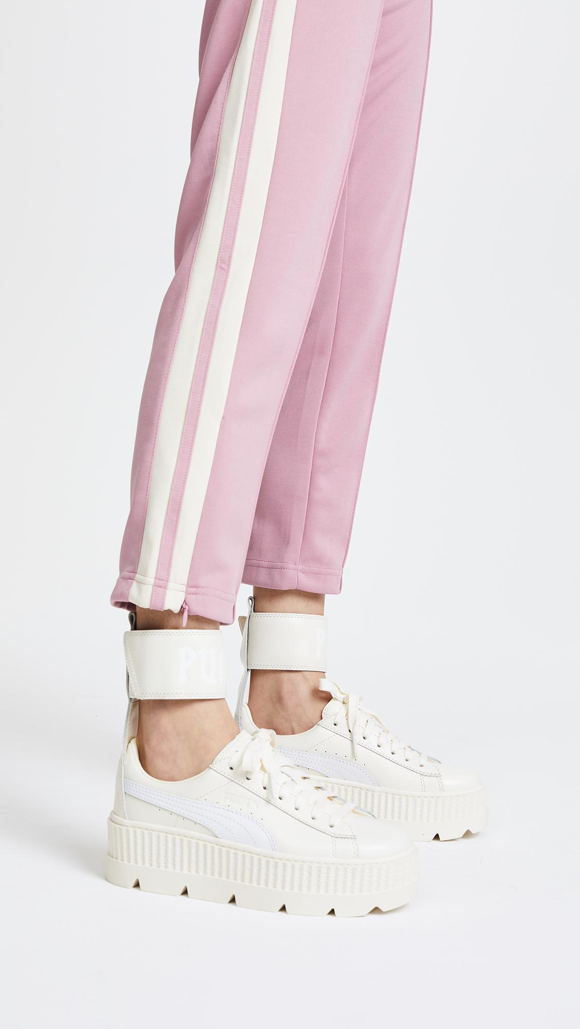 timeless design da986 f0ff3 Women's White Fenty X Ankle Strap Sneakers