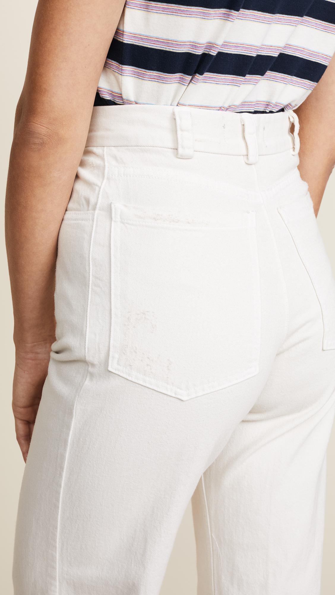 Rachel Comey Legion Jeans in Dirty White Wash (White)