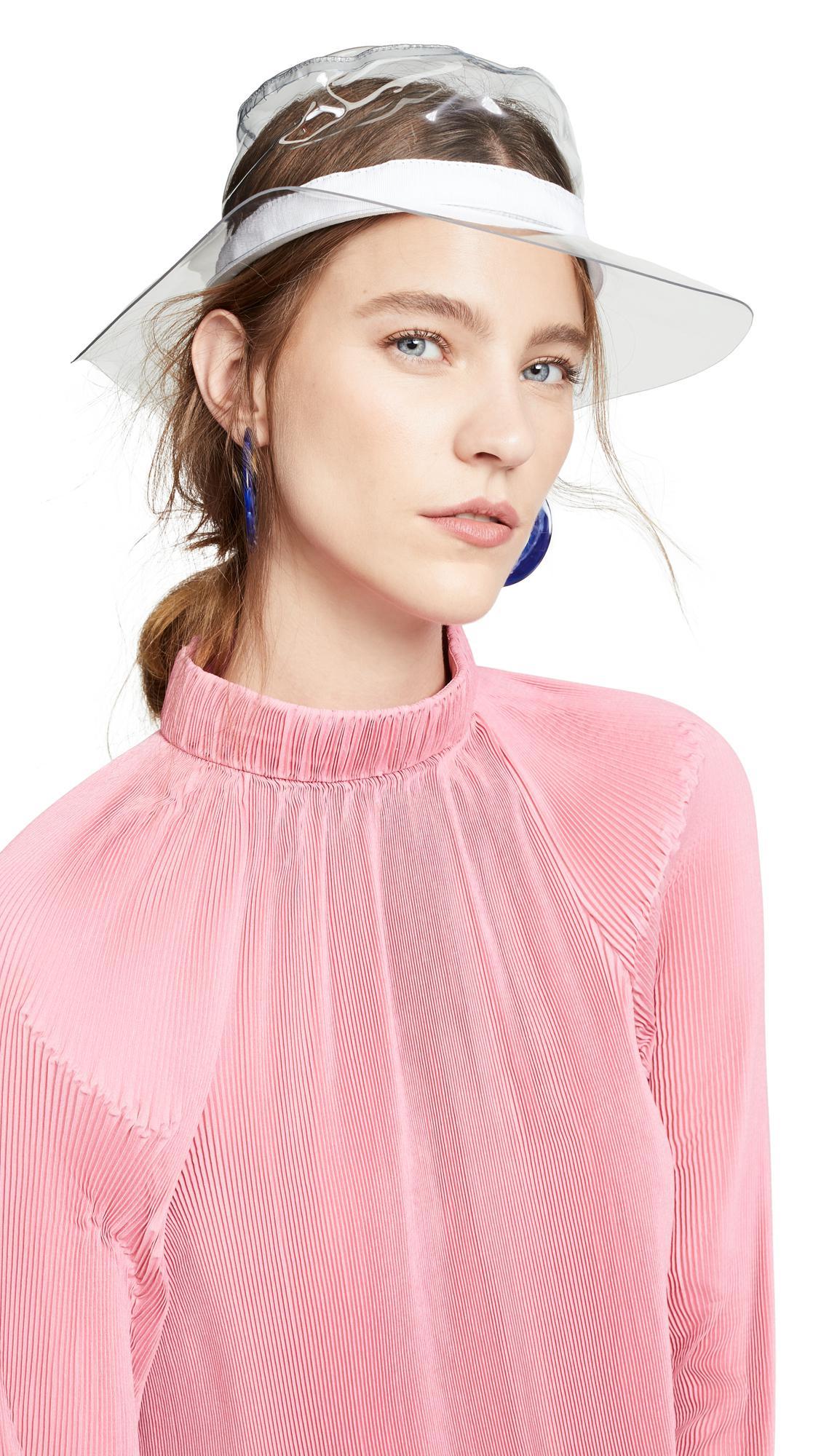 ad5e221d6c174 Hat Attack - Pink Transparent Hat - Lyst. View fullscreen