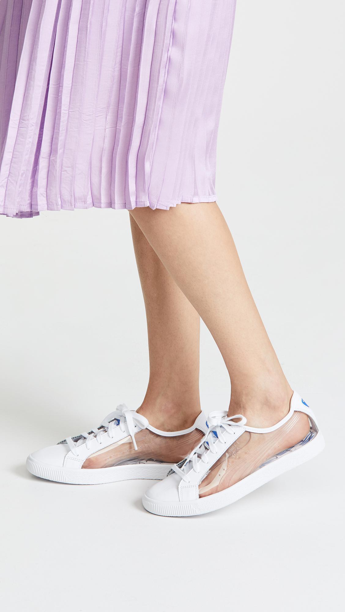 41d597766eea7 PUMA White X Shantell Martin Clyde Clear Sneakers