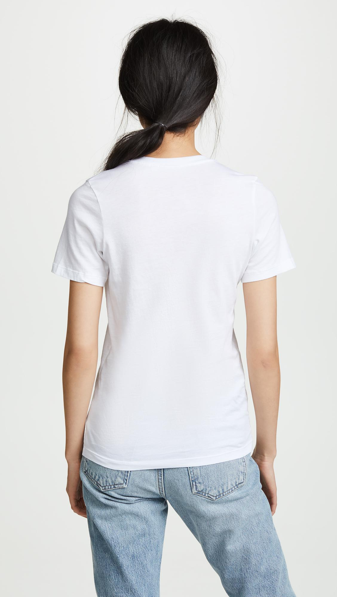 AG Jeans Cotton Gray Boy Tee in White