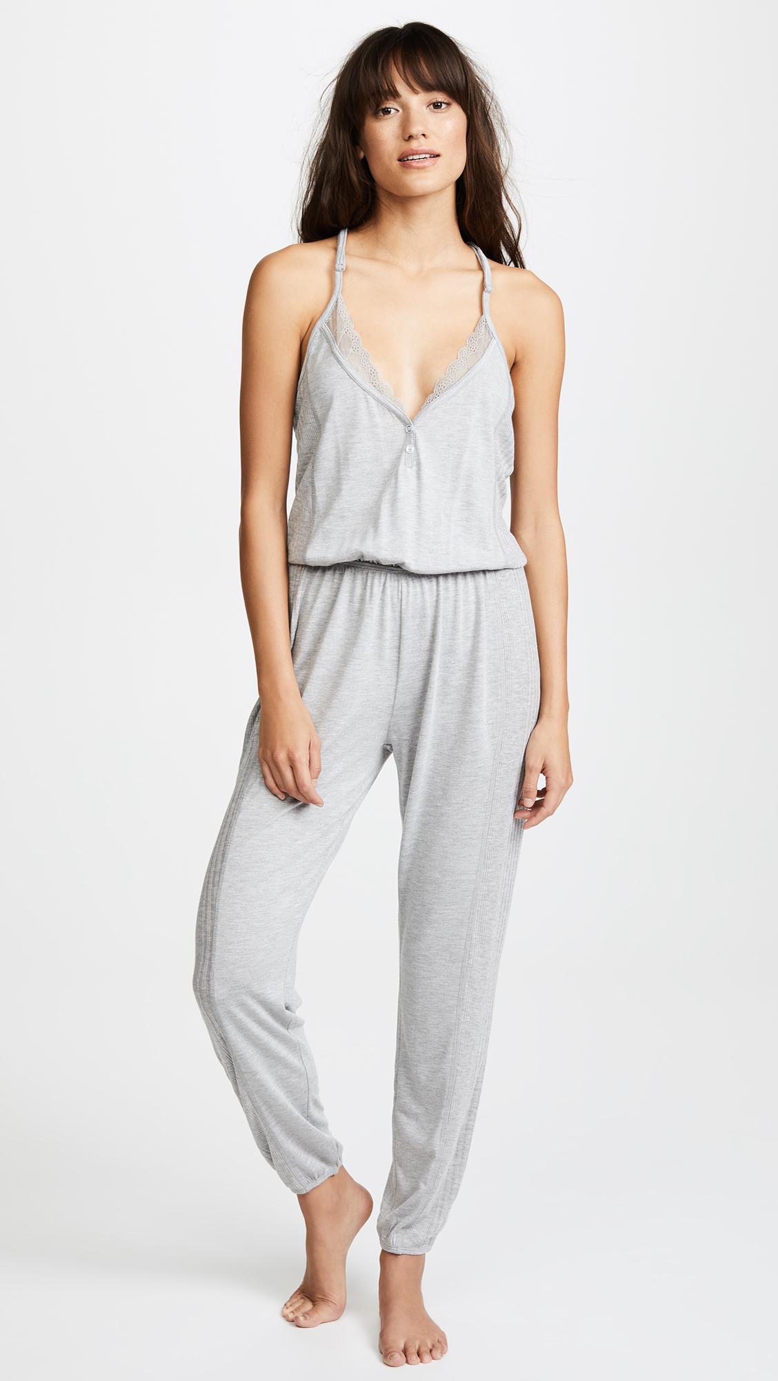 da24b0556fc Lyst - Splendid Always Sleep Jumpsuit in Gray