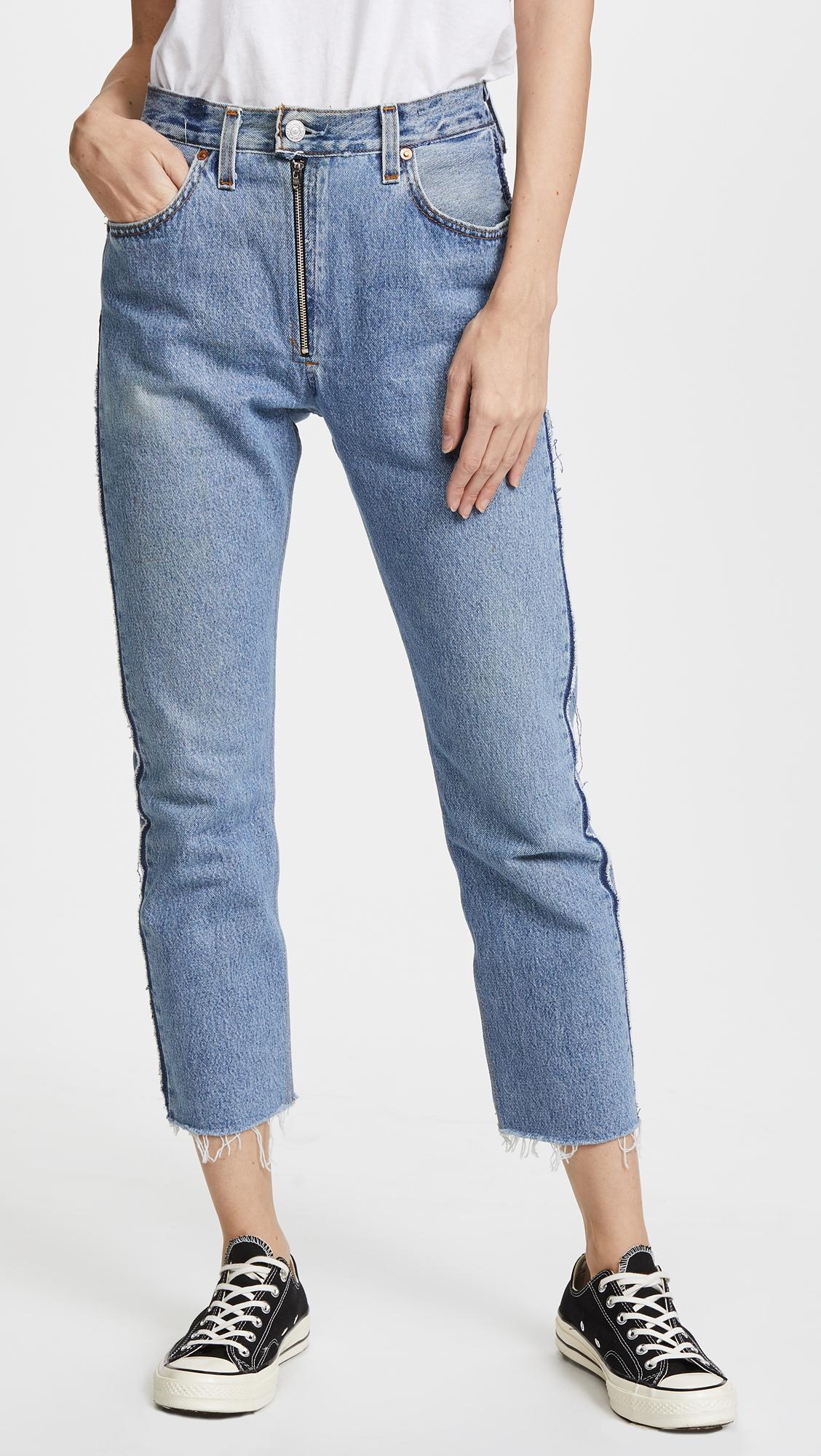 high rise relaxed crop jeans - Blue Re/Done FiXuO
