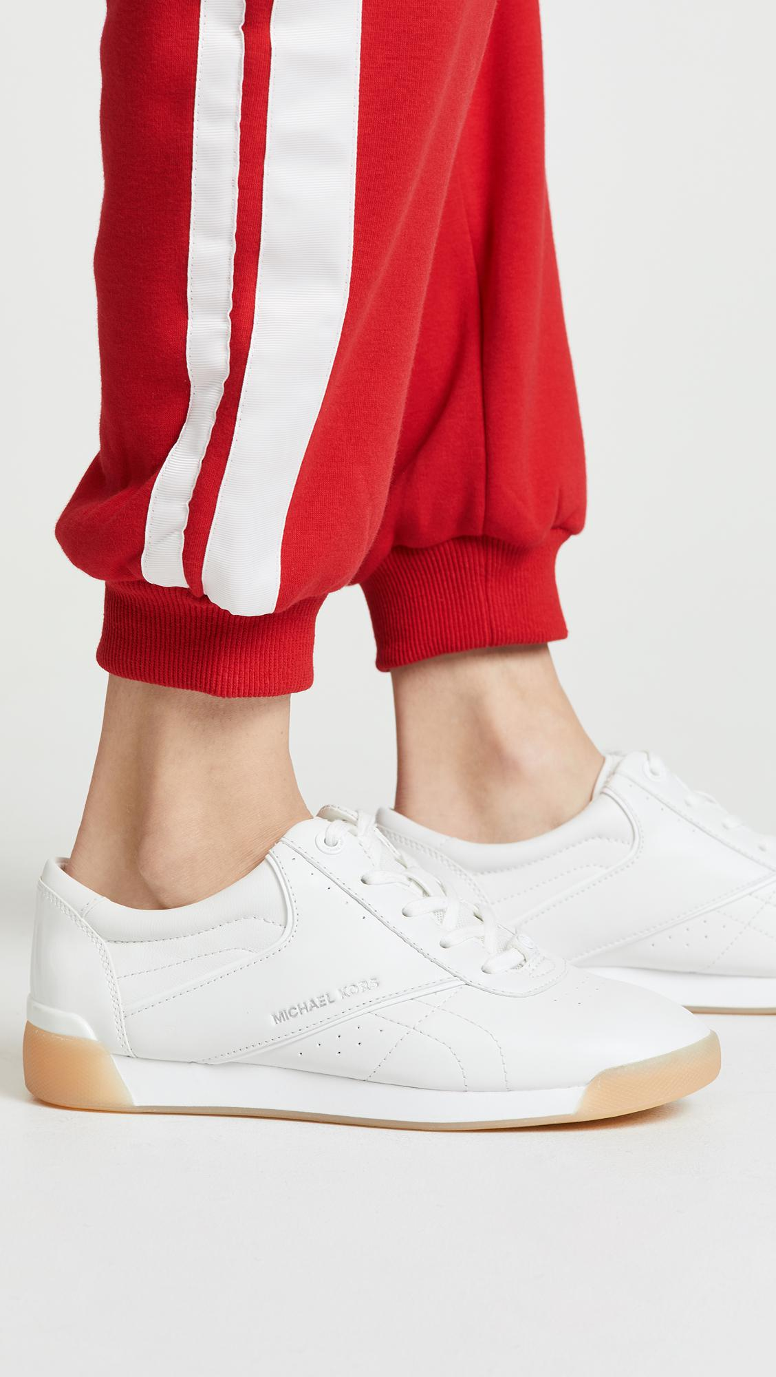 MICHAEL Michael Kors Addie Lace Up Sneakers in White
