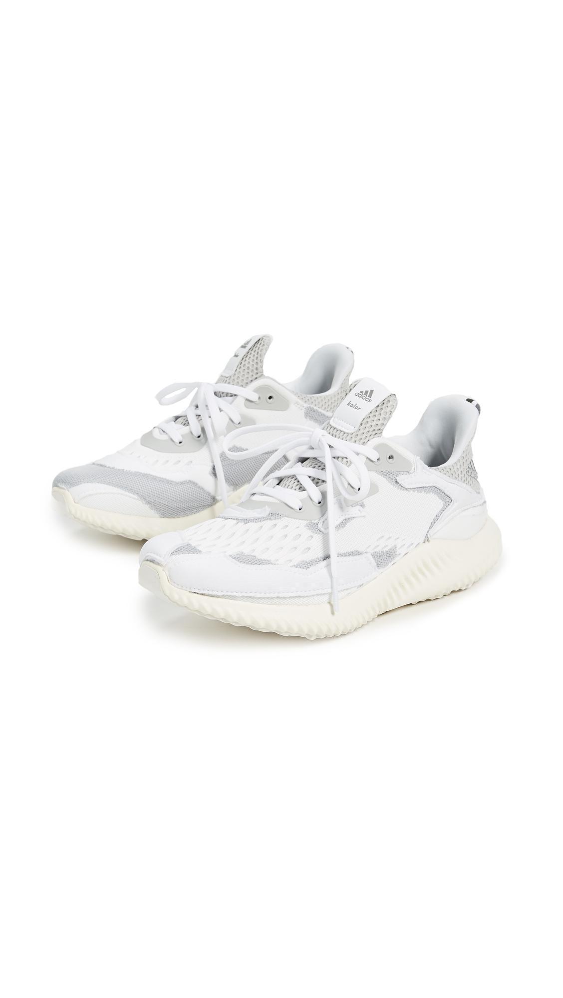 adidas Alpha Bounce Kolor Sneakers in White/Grey/White (White)