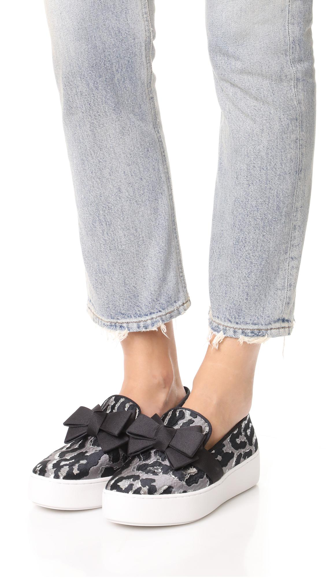Michael Kors Rubber Val Platform Slip On Sneakers