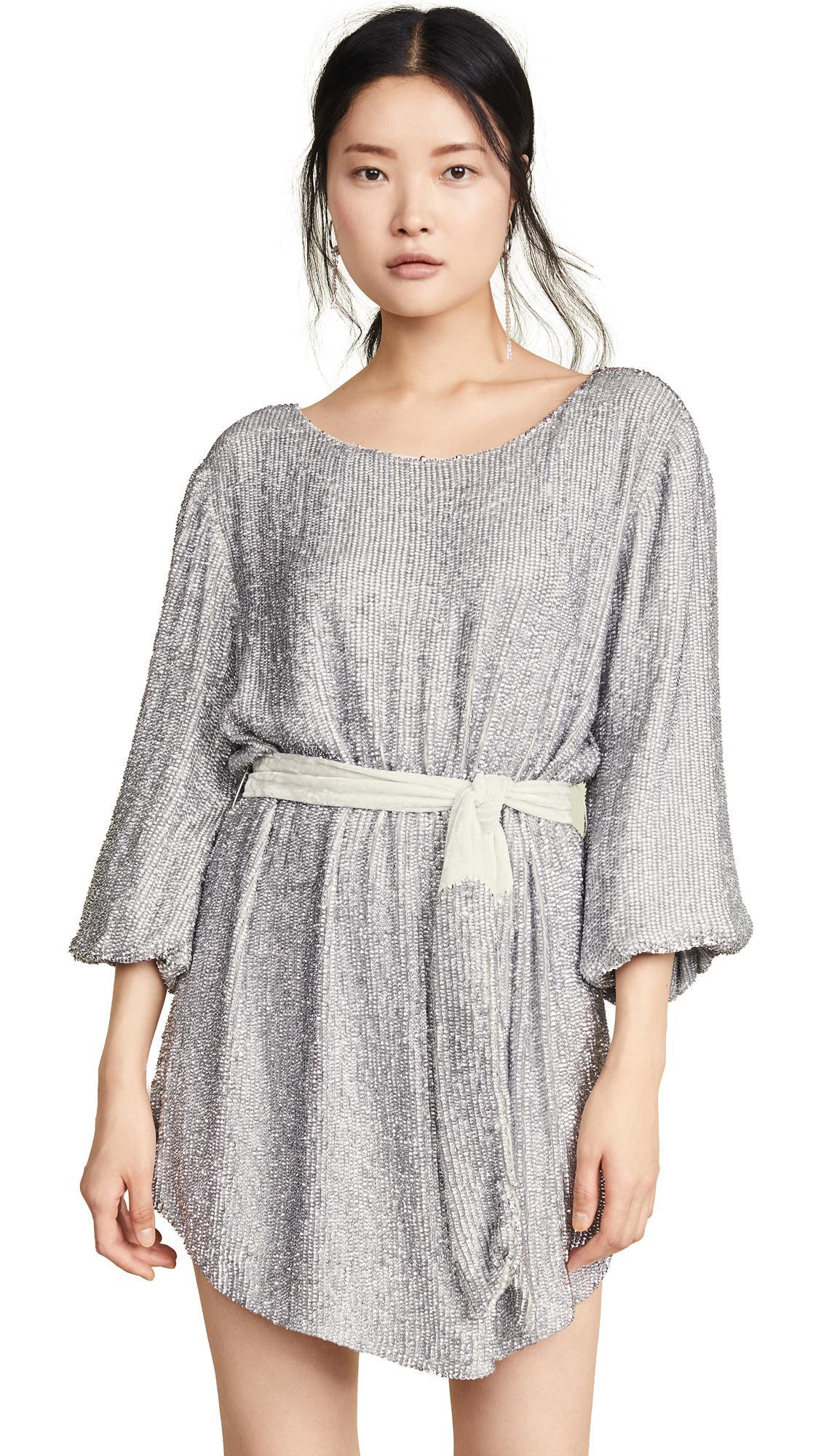 Retrof 233 Te Synthetic Grace Dress In Silver Metallic Lyst