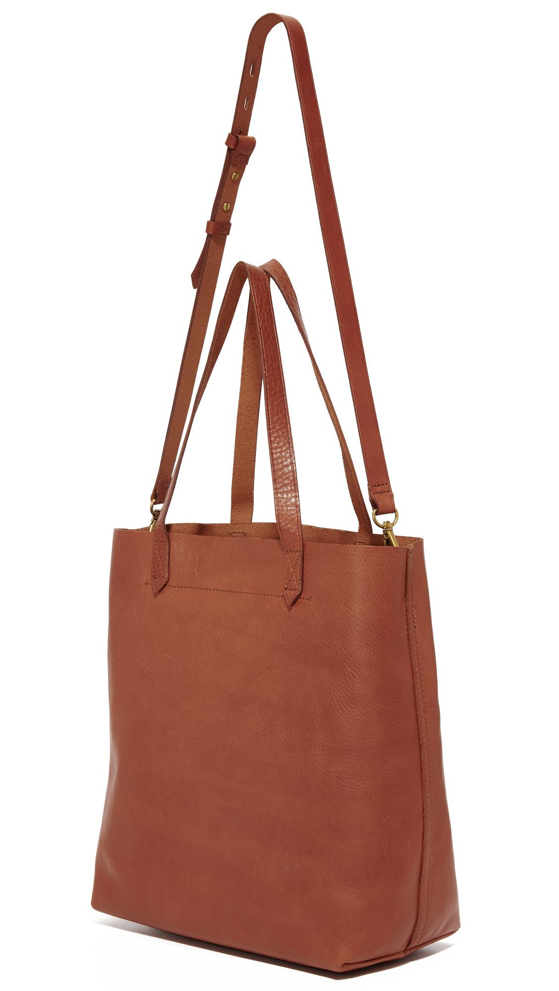 Madewell Leather The Medium Transport Tote in Brown