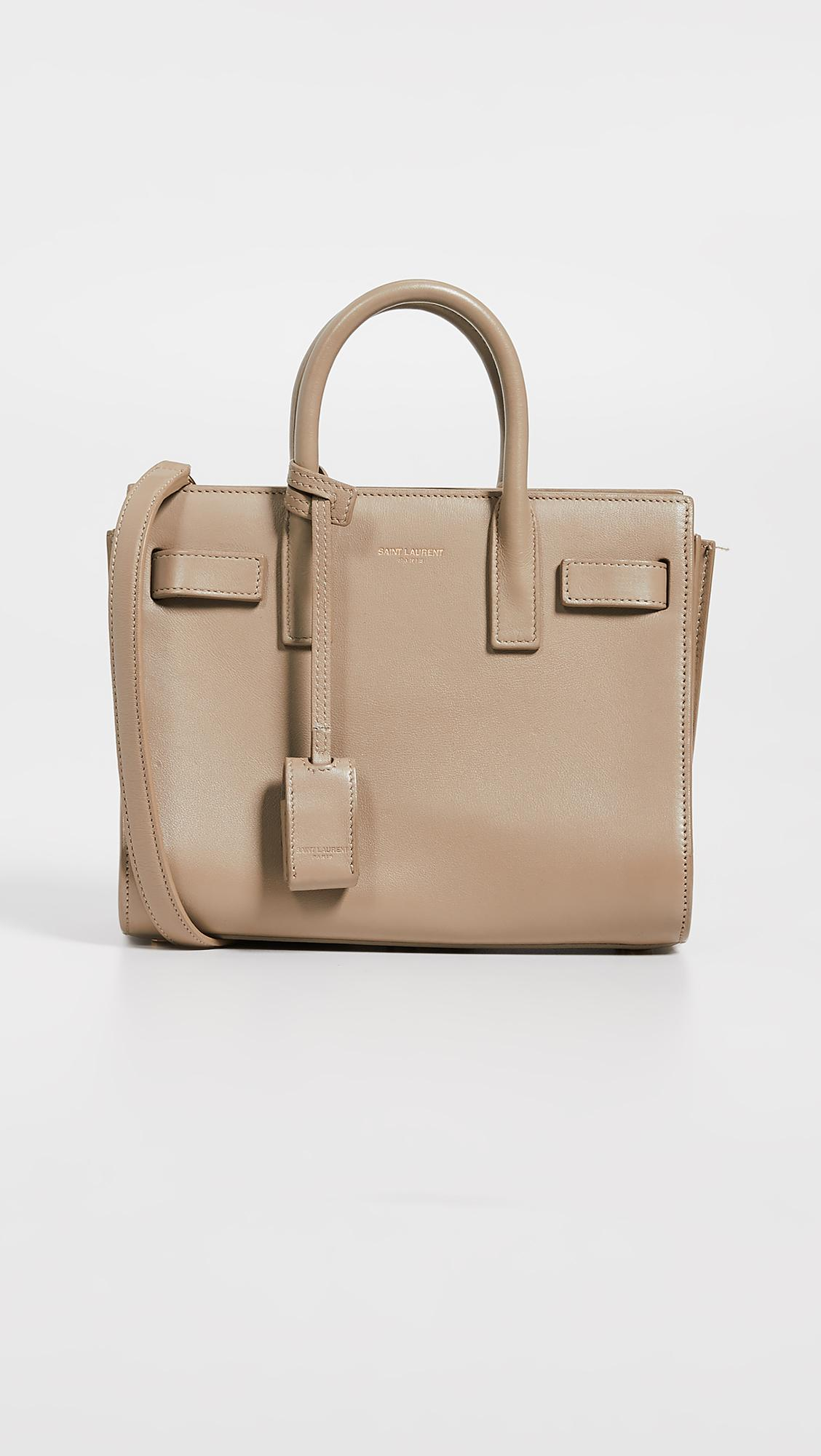 834073ca8ef9 Lyst - What Goes Around Comes Around Ysl Sac De Jour Nano Bag in Natural