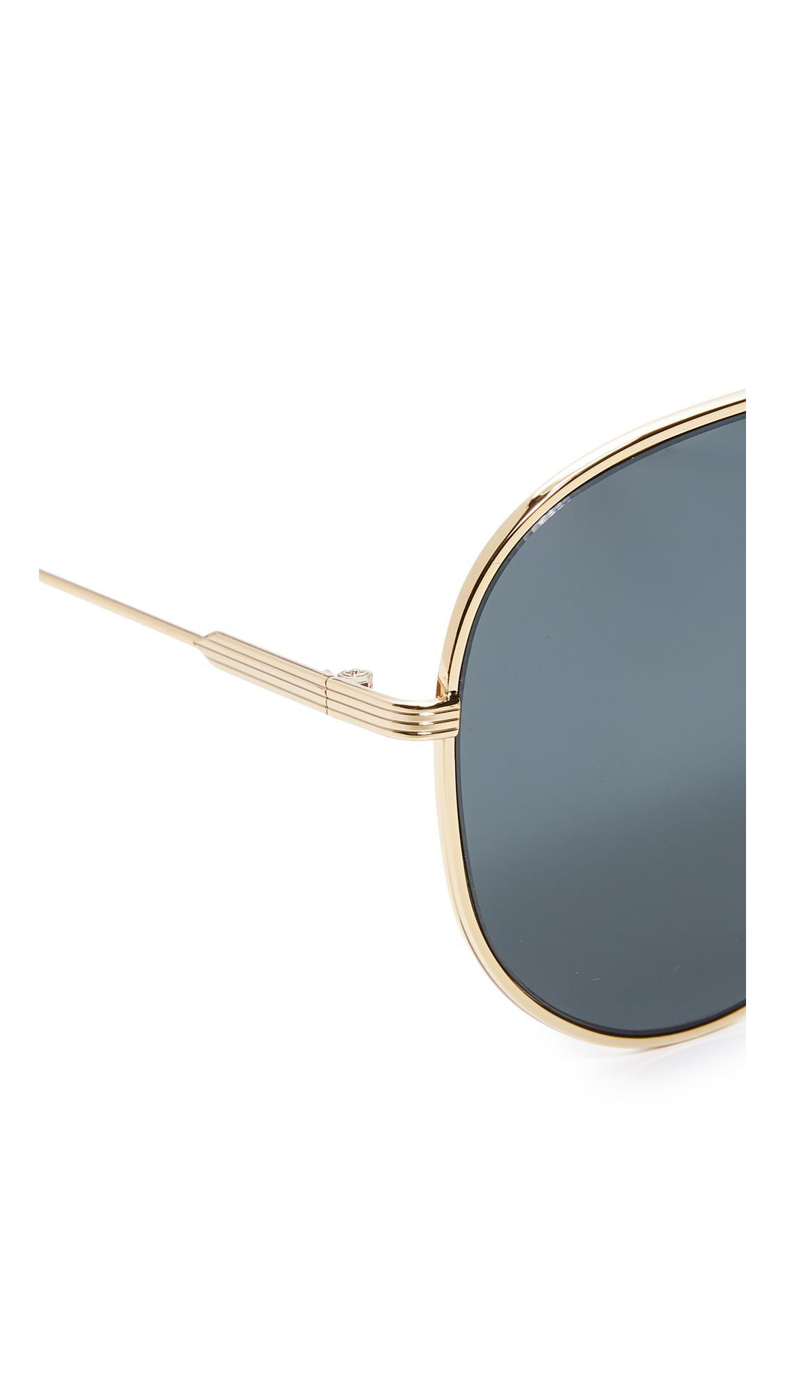 cfe115ac5 Victoria Beckham Loop Aviator Sunglasses - Lyst
