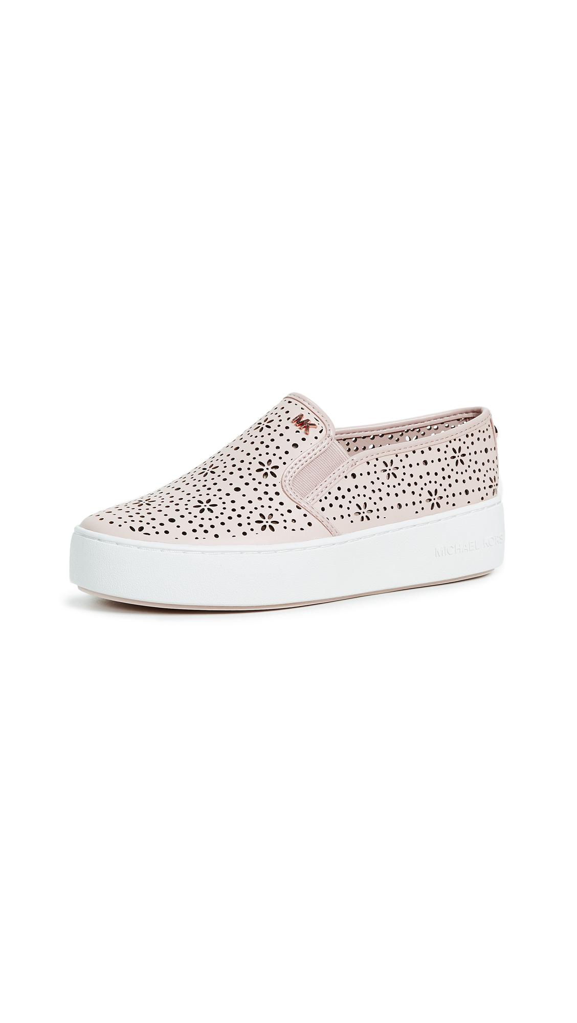 MICHAEL Michael Kors Leather Trent Slip On Sneakers