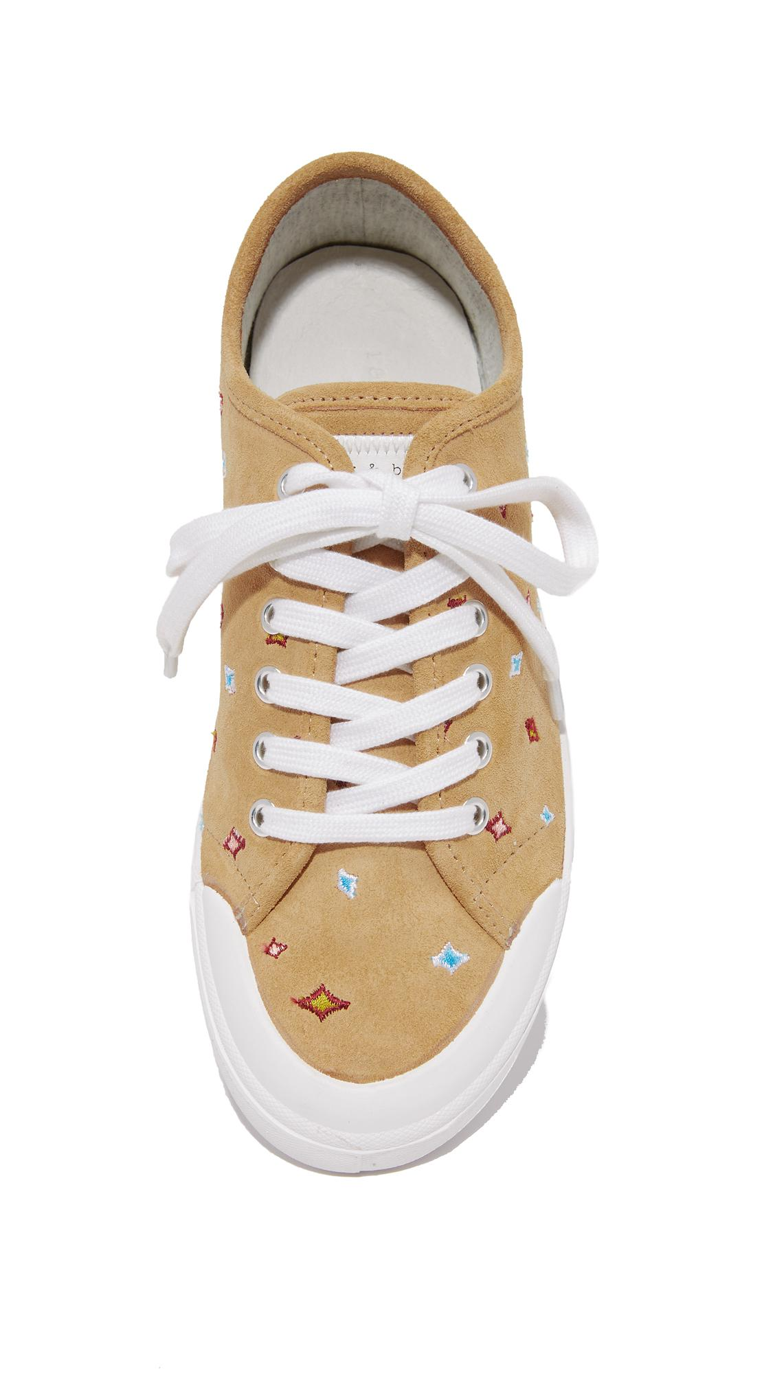 Rag & Bone Leather Standard Issue Lace Up Sneakers