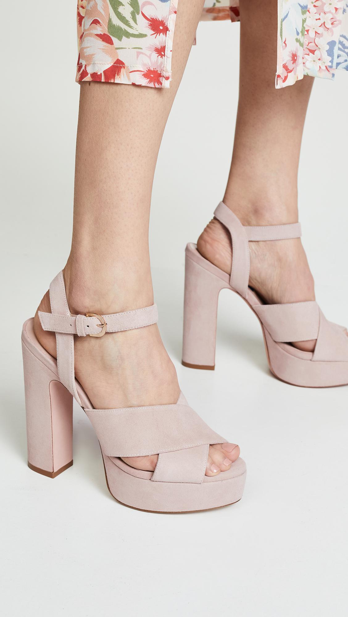 262522b9da69 Stuart Weitzman - Pink Joni Platform Sandals - Lyst. View fullscreen