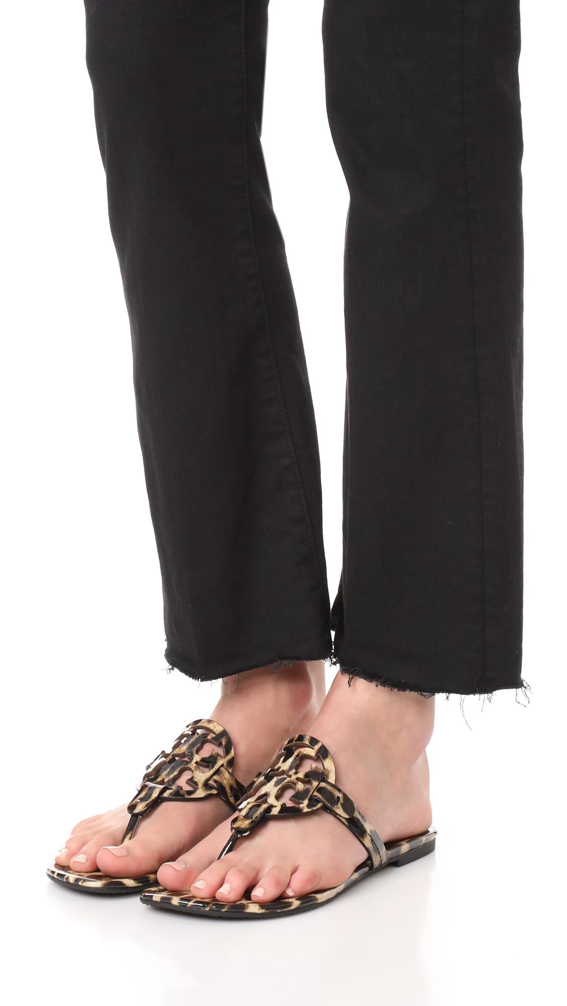 tory burch miller sandals cheetah
