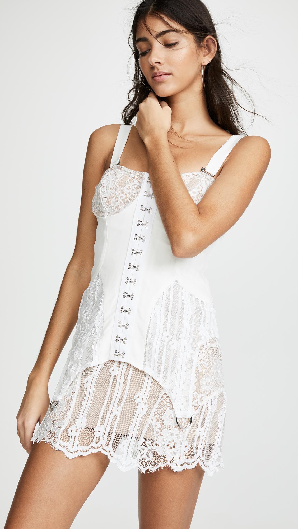 5c4c9024441 For Love   Lemons Alexandria Mini Dress in White - Lyst