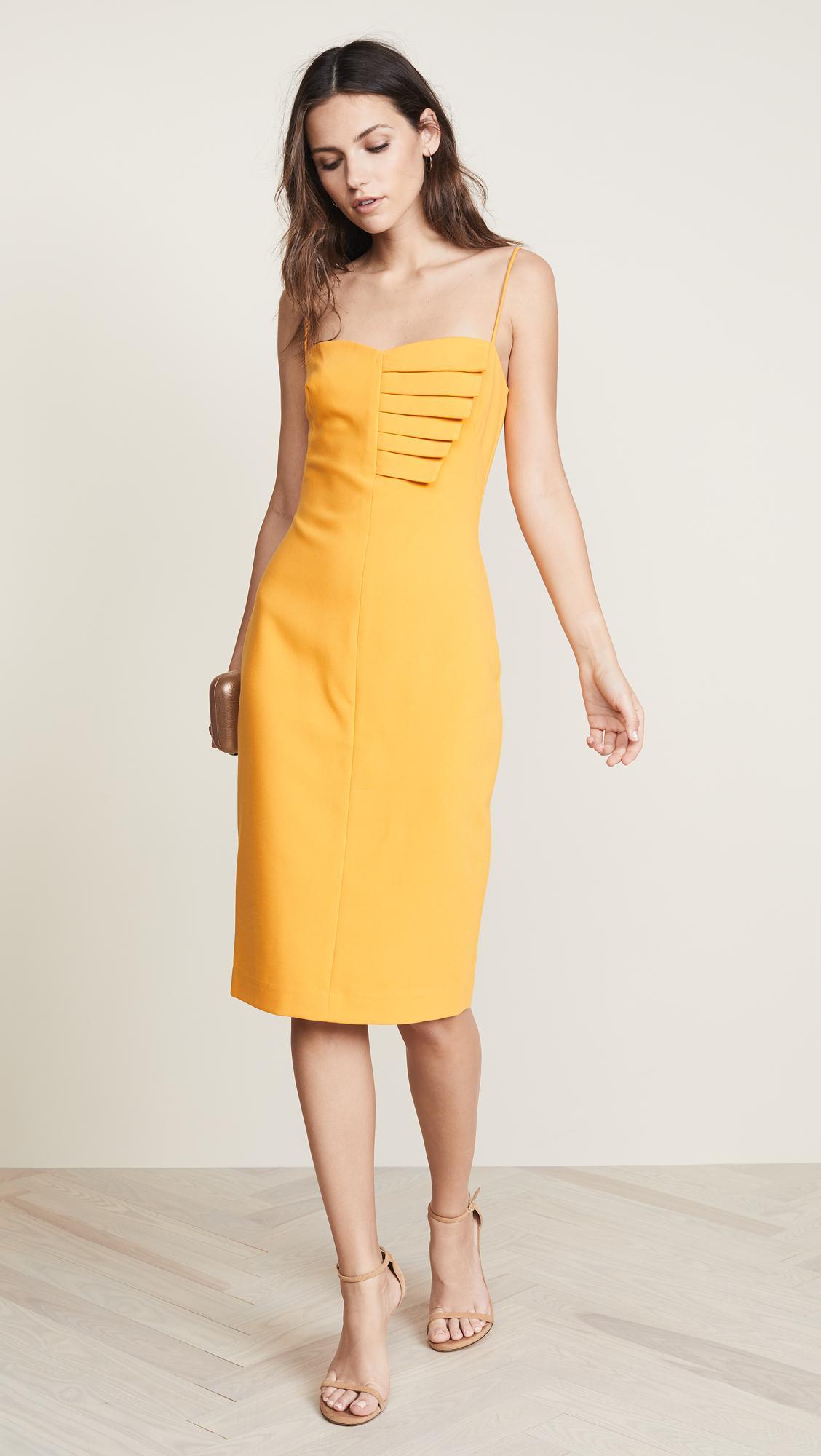 Black Halo Akeno Sheath Dress in Yellow - Lyst