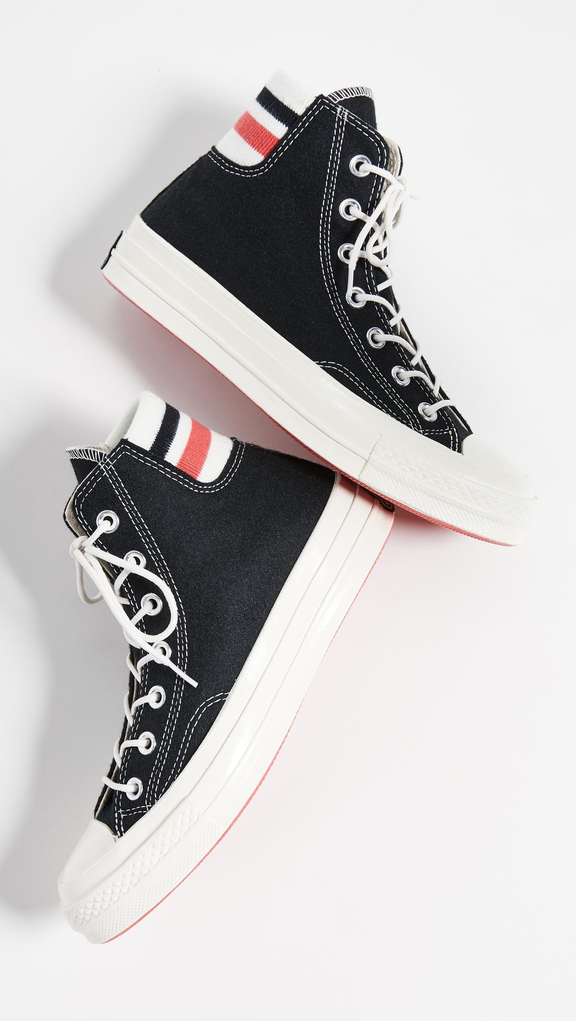 converse red stripe