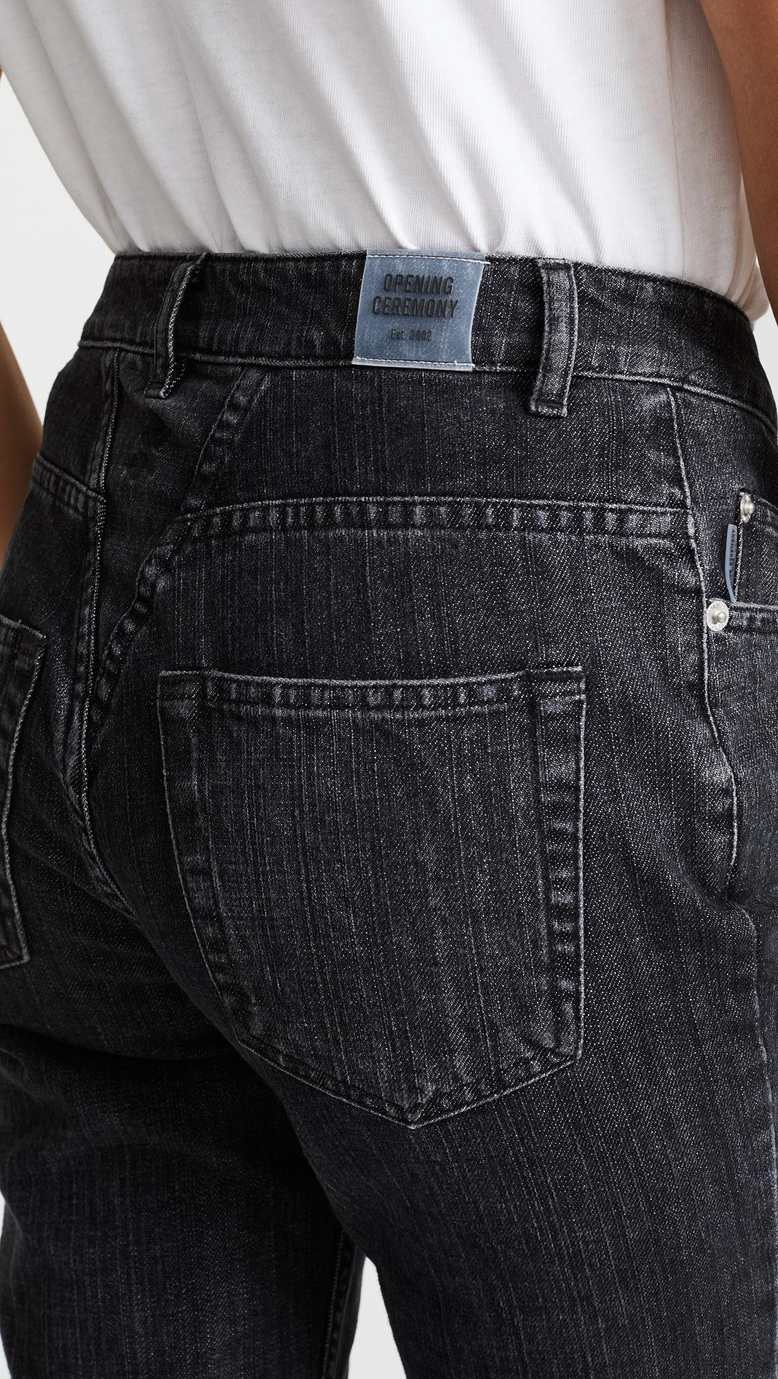 Opening Ceremony Denim Dip Mid-rise Straight-leg Jeans in Black