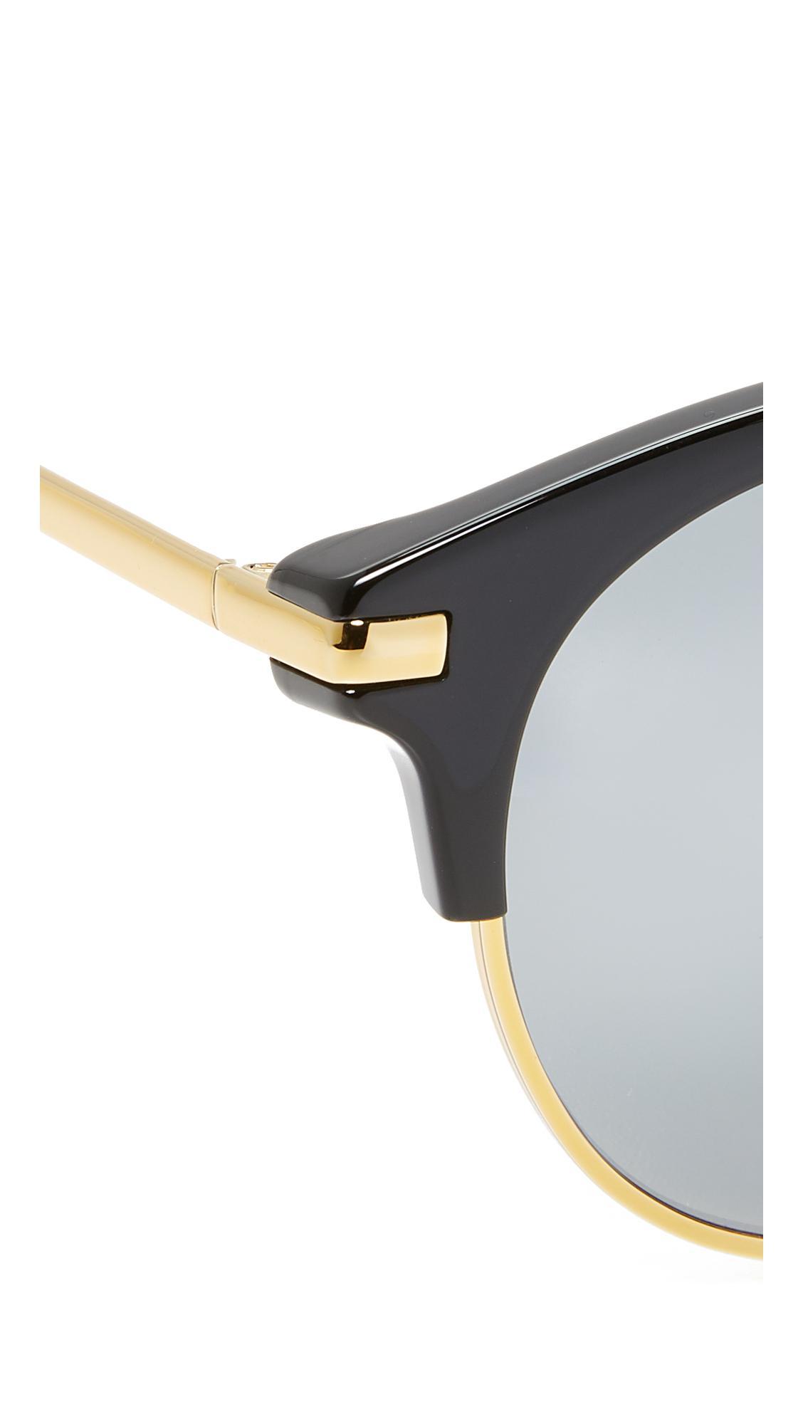Vedi Vero Round Combo Sunglasses in Black/Black (Black)